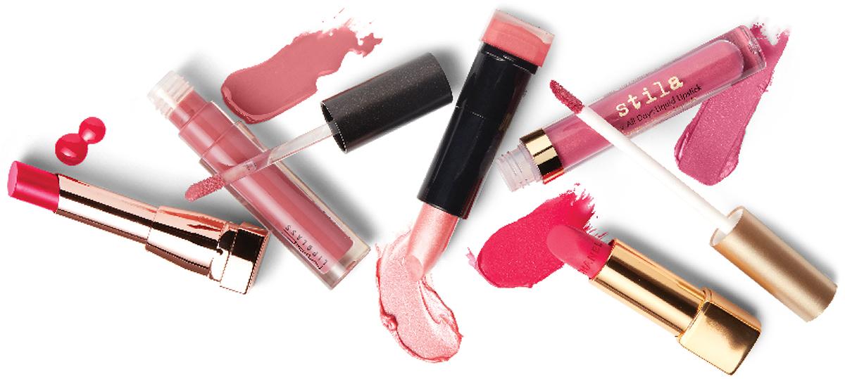 pink lipsticks gloss