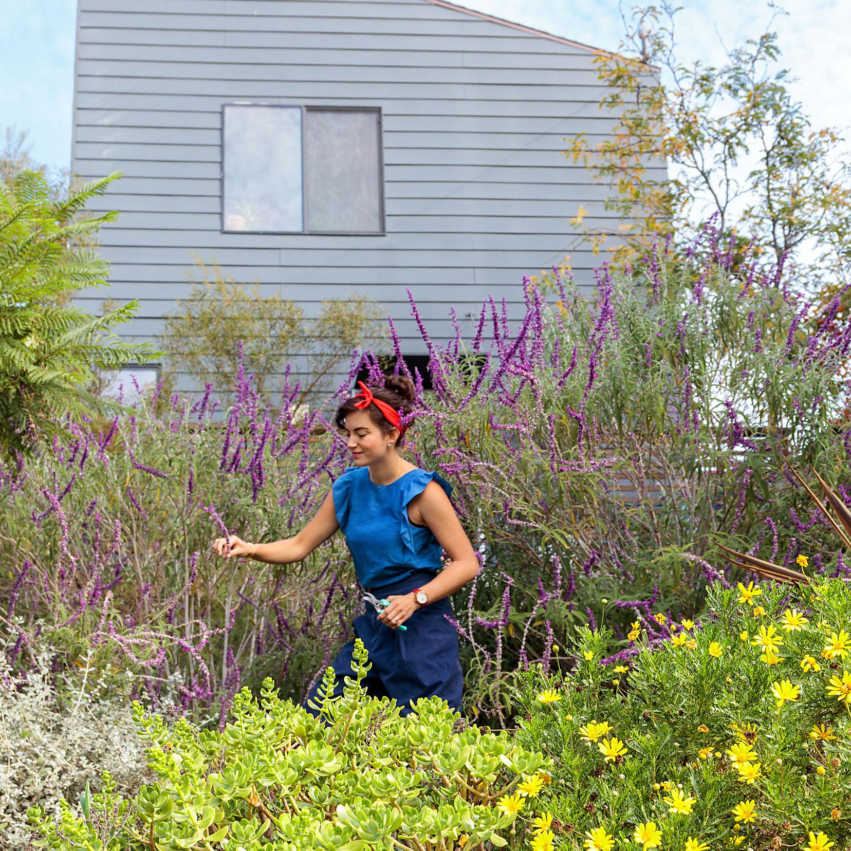 Ellen Bennett in outdoor garden