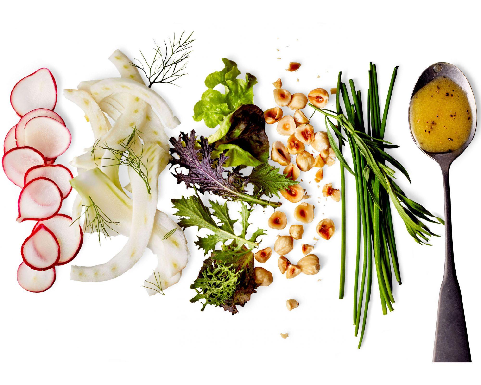 salad verte ingredients chopped
