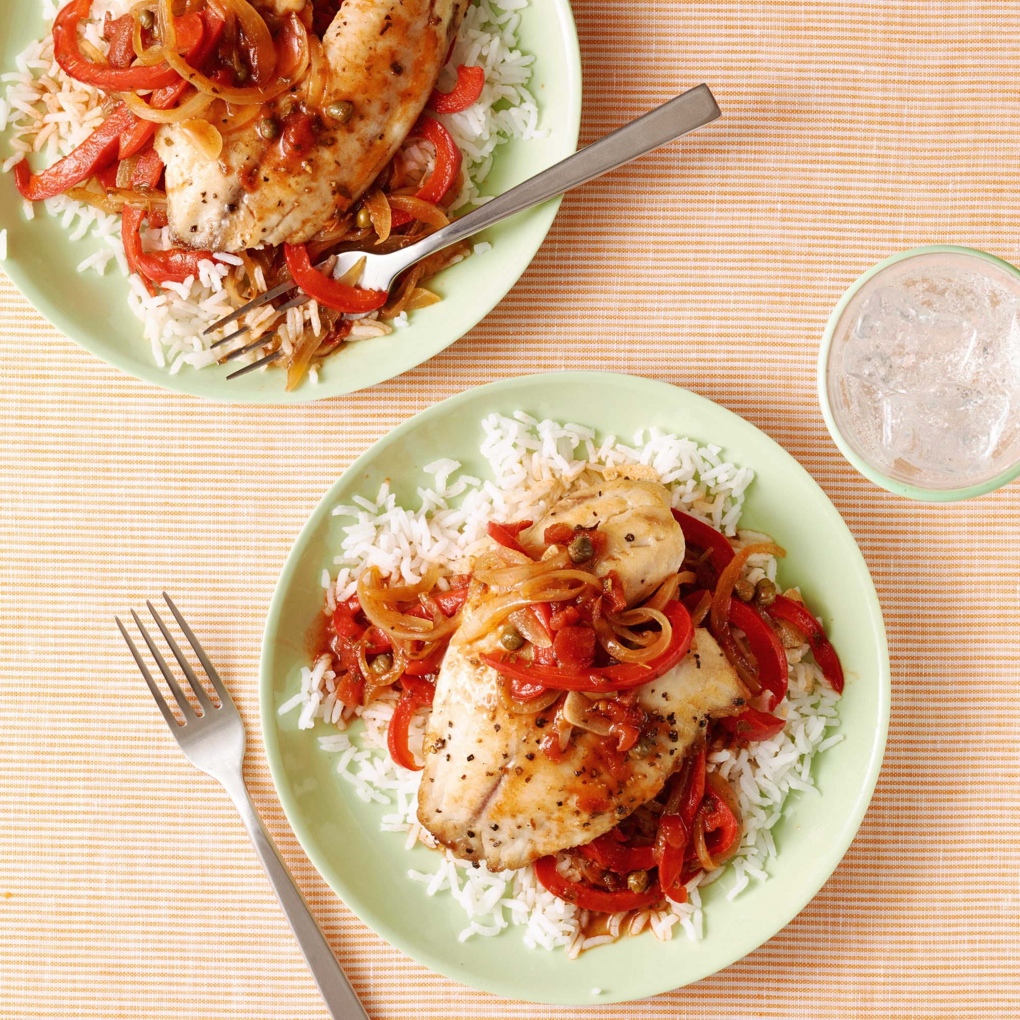 Tilapia with Spicy Red Pepper Sauce