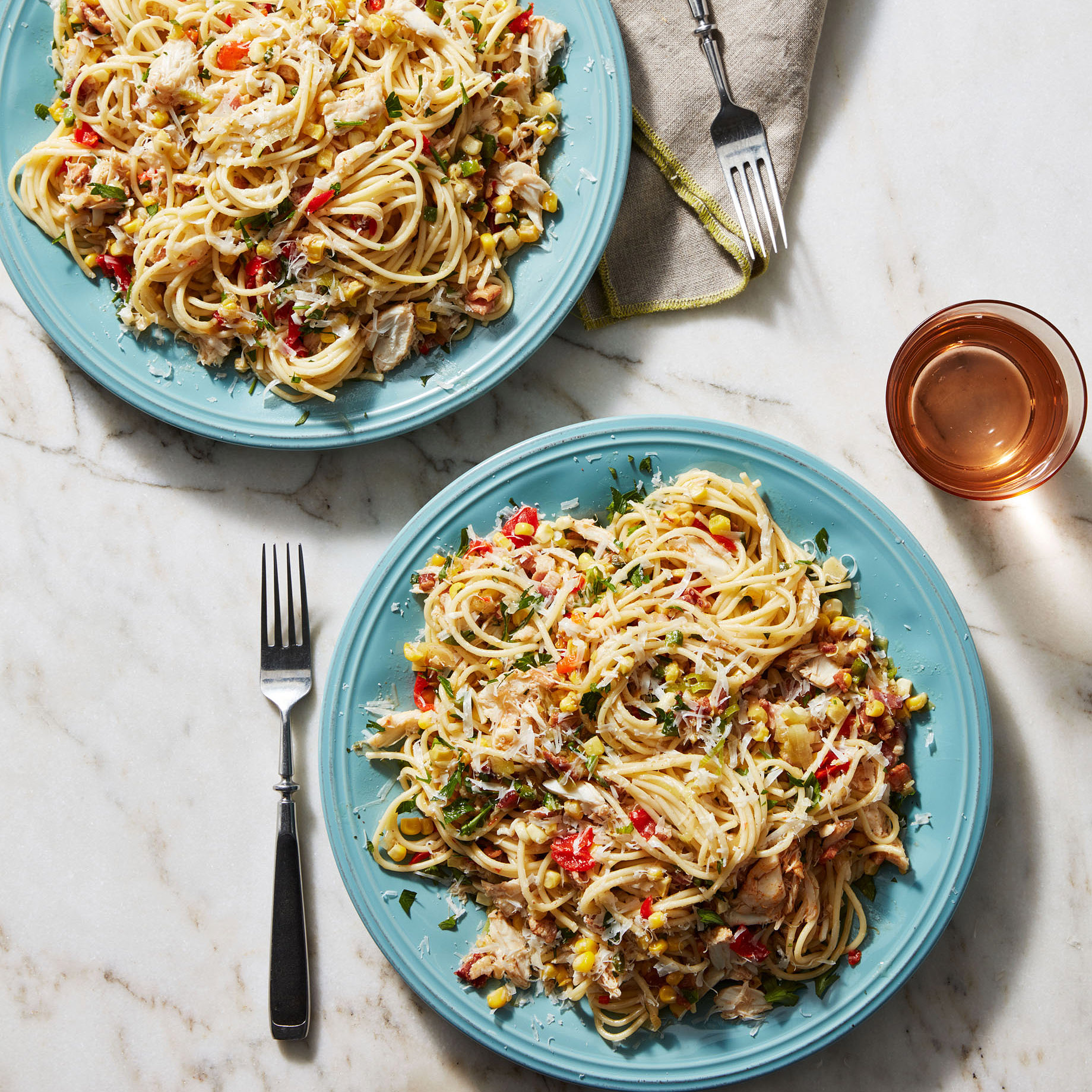 Crabby & Corny Spaghetti