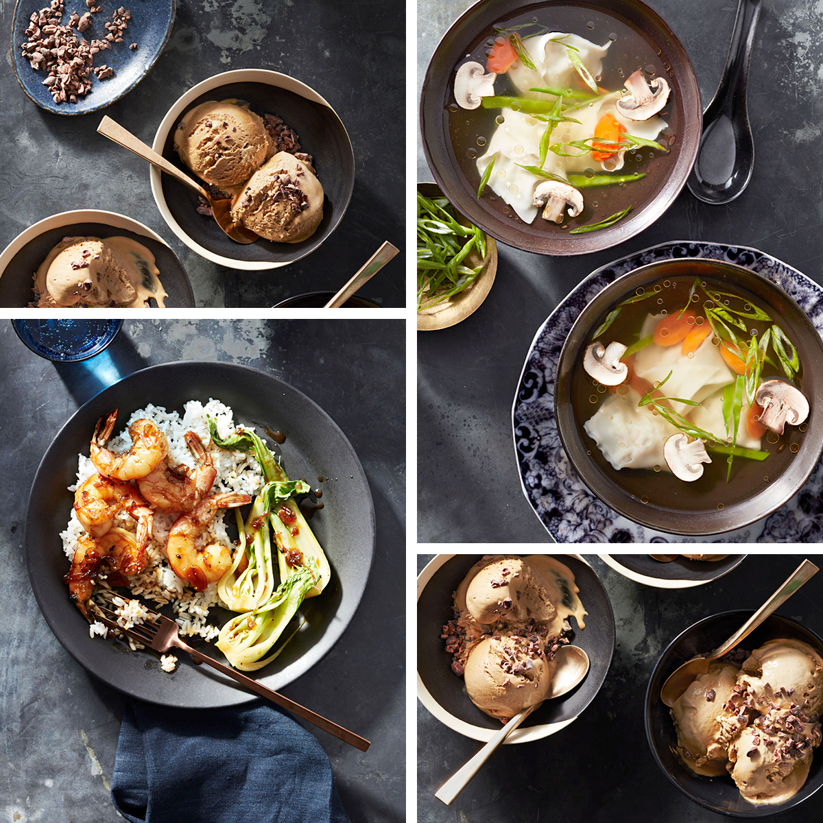 various vietnamese food dishes collage
