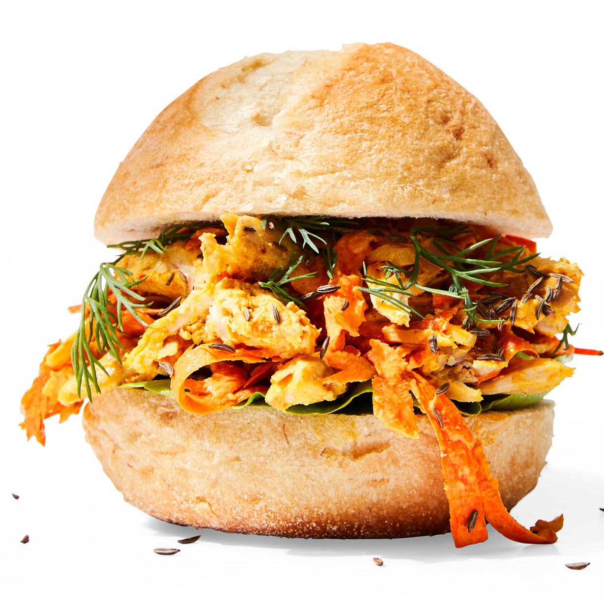 Curried Chicken & Carrot Salad Sandwiches