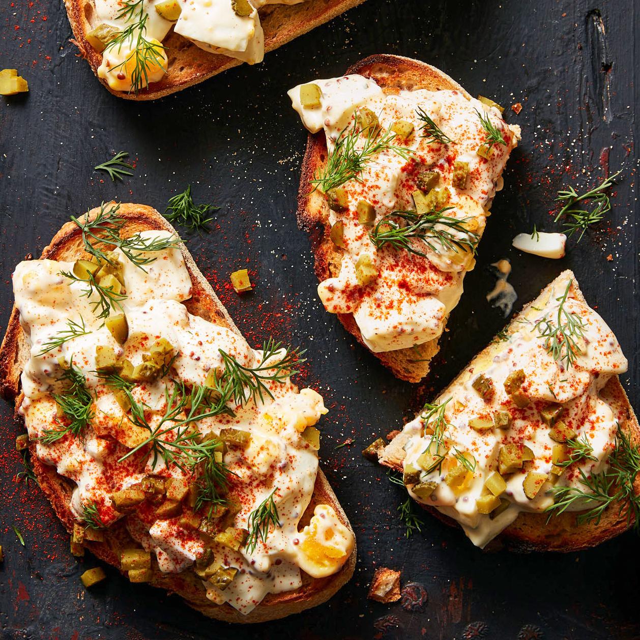 Deviled Egg Toasts