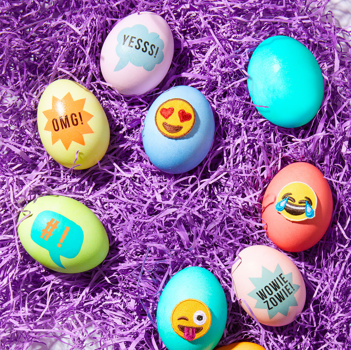 temporary tattoos emoji patches easter egg decorations