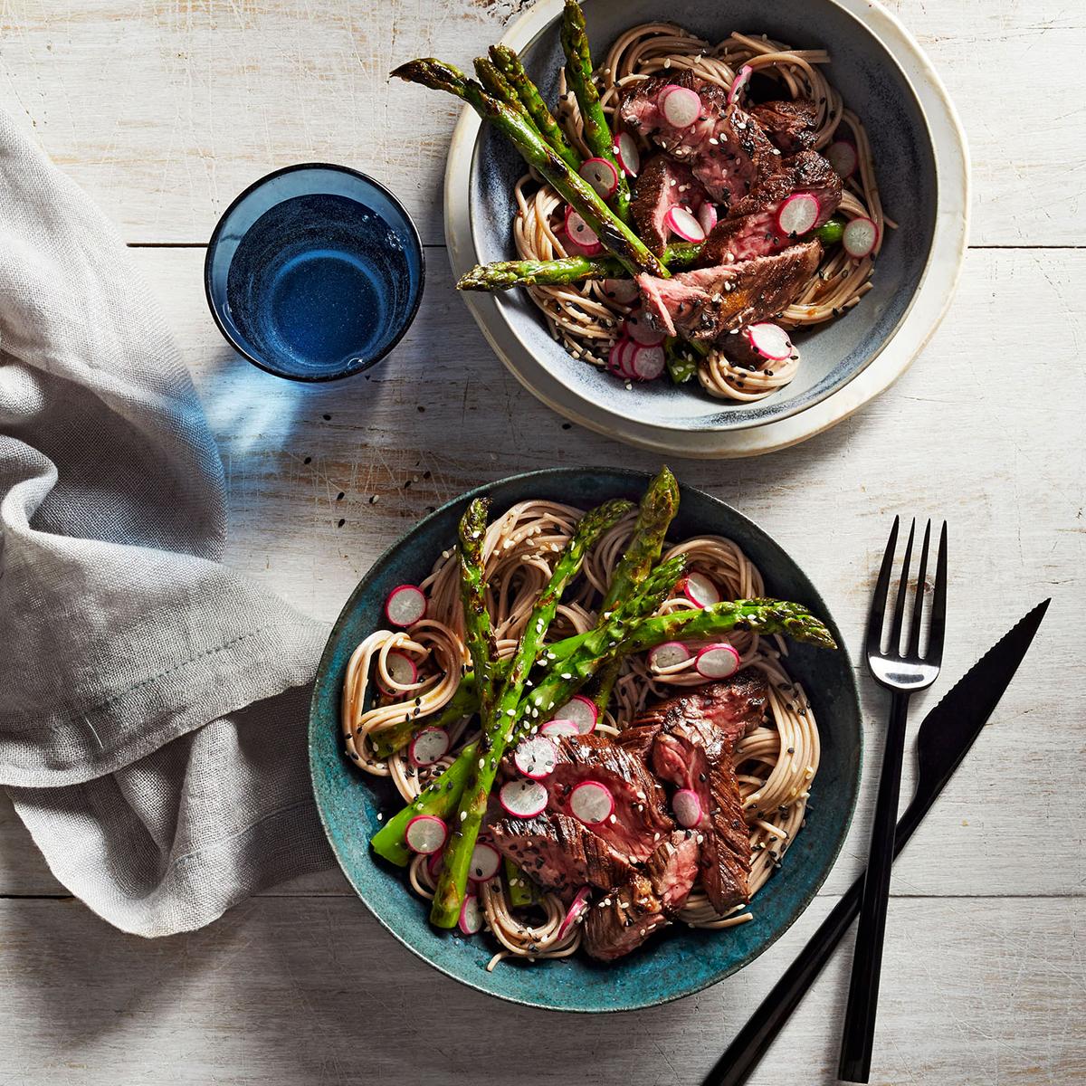 sesame skirt steak soba noodle salad 0918