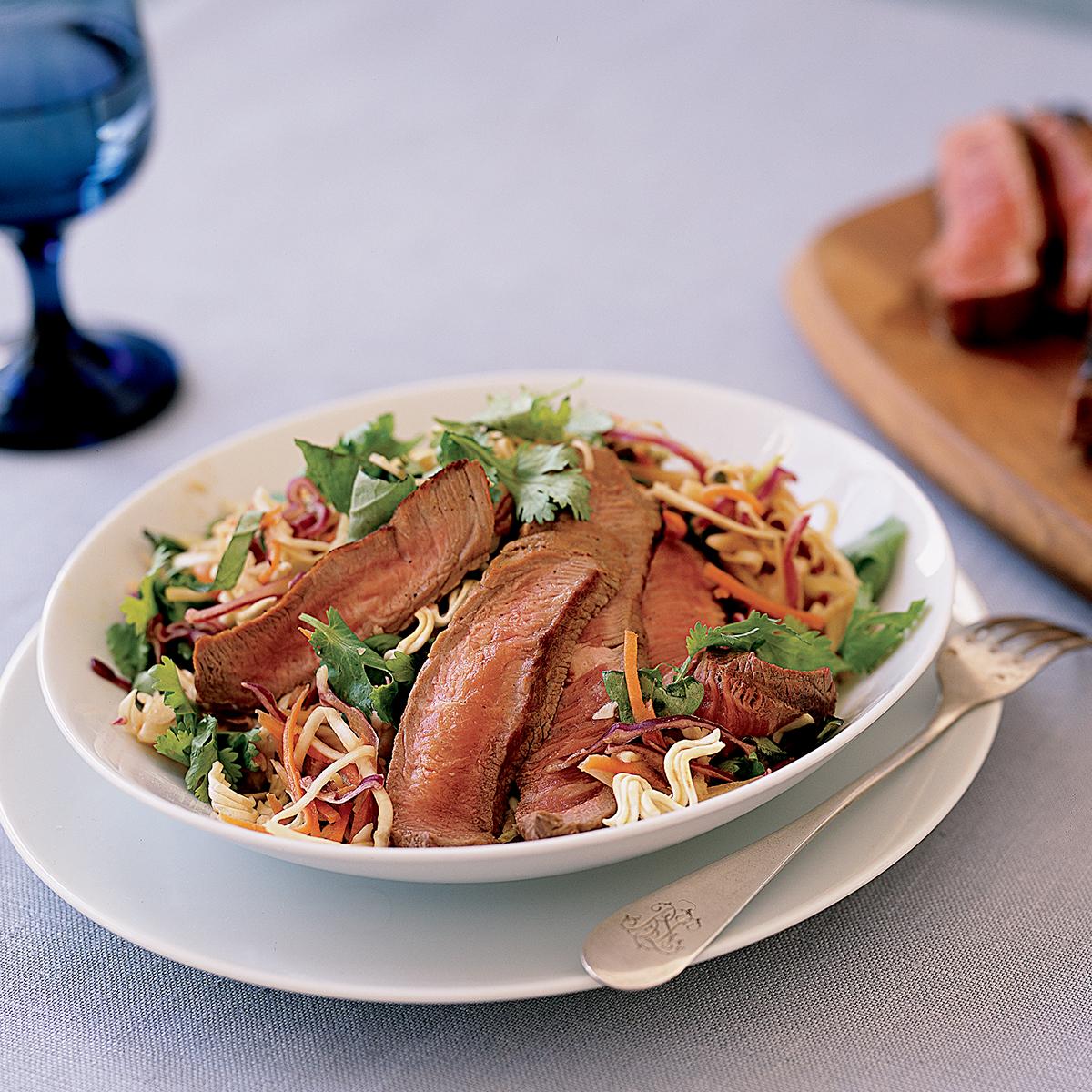 Thai Beef Salad with Crispy Noodles
