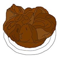 illustration of a pop-up baked good