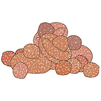 illustration of donut and donut holes
