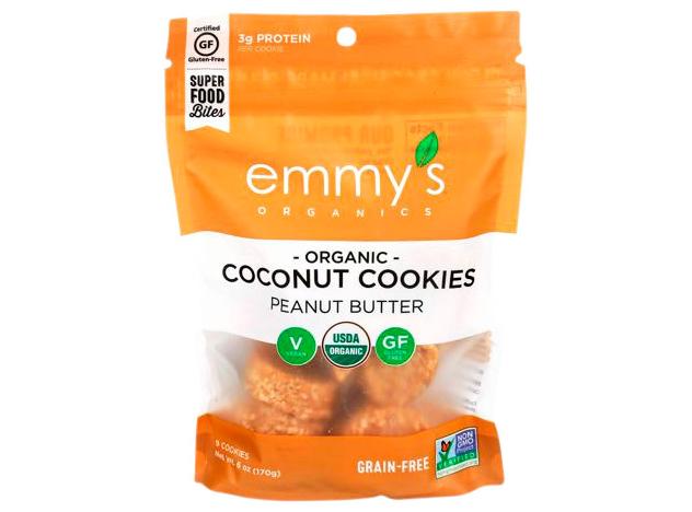emmys organics peanut butter coconut cookies