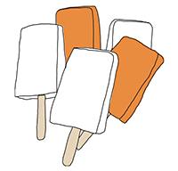 illustration of assorted ice-cream bars