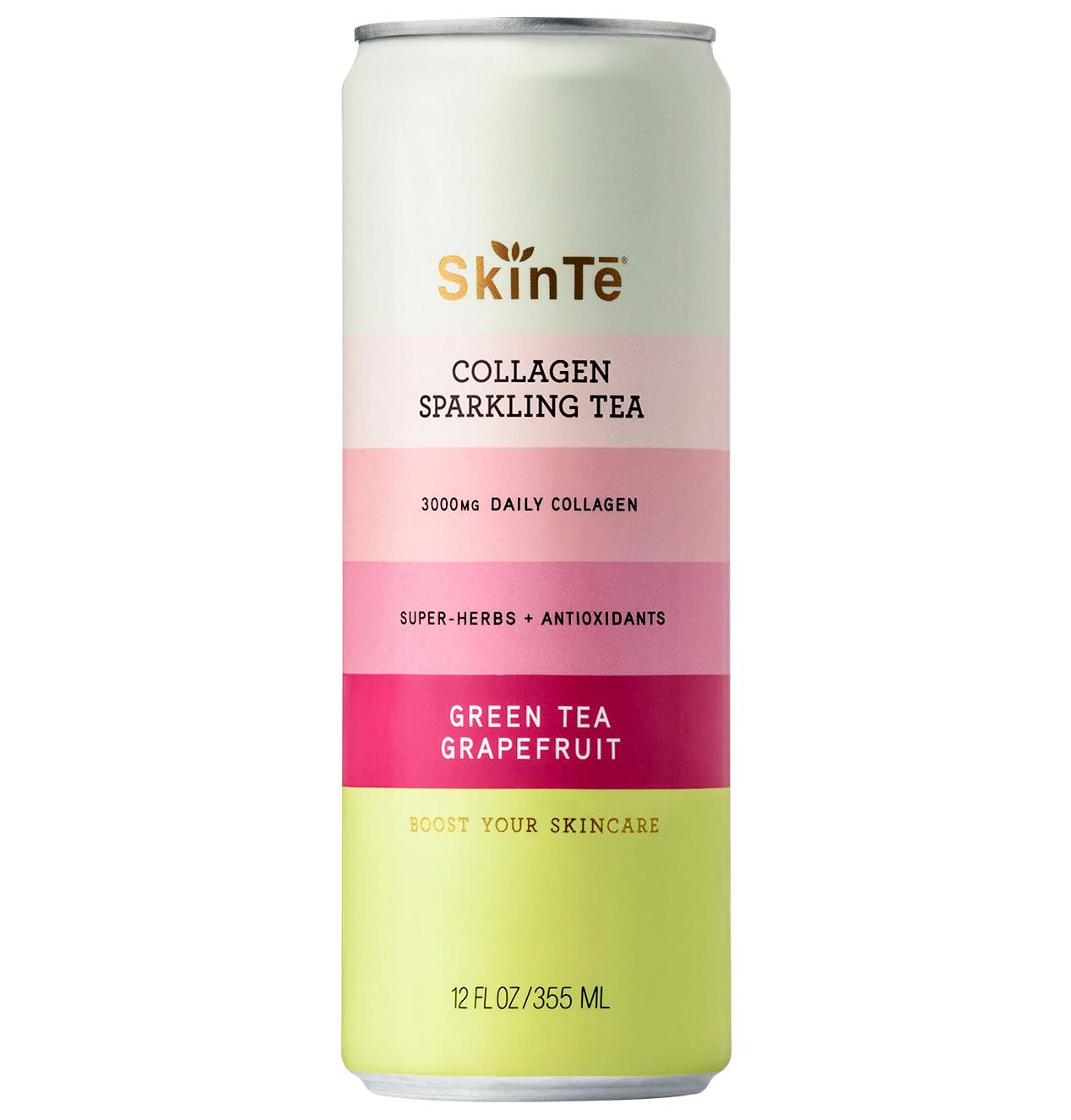 skinte collagen sparkling green tea grapefruit