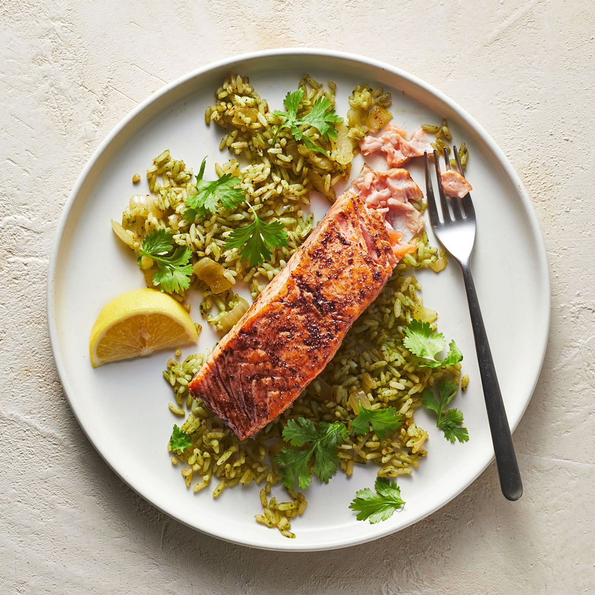 indian spiced salmon and rice