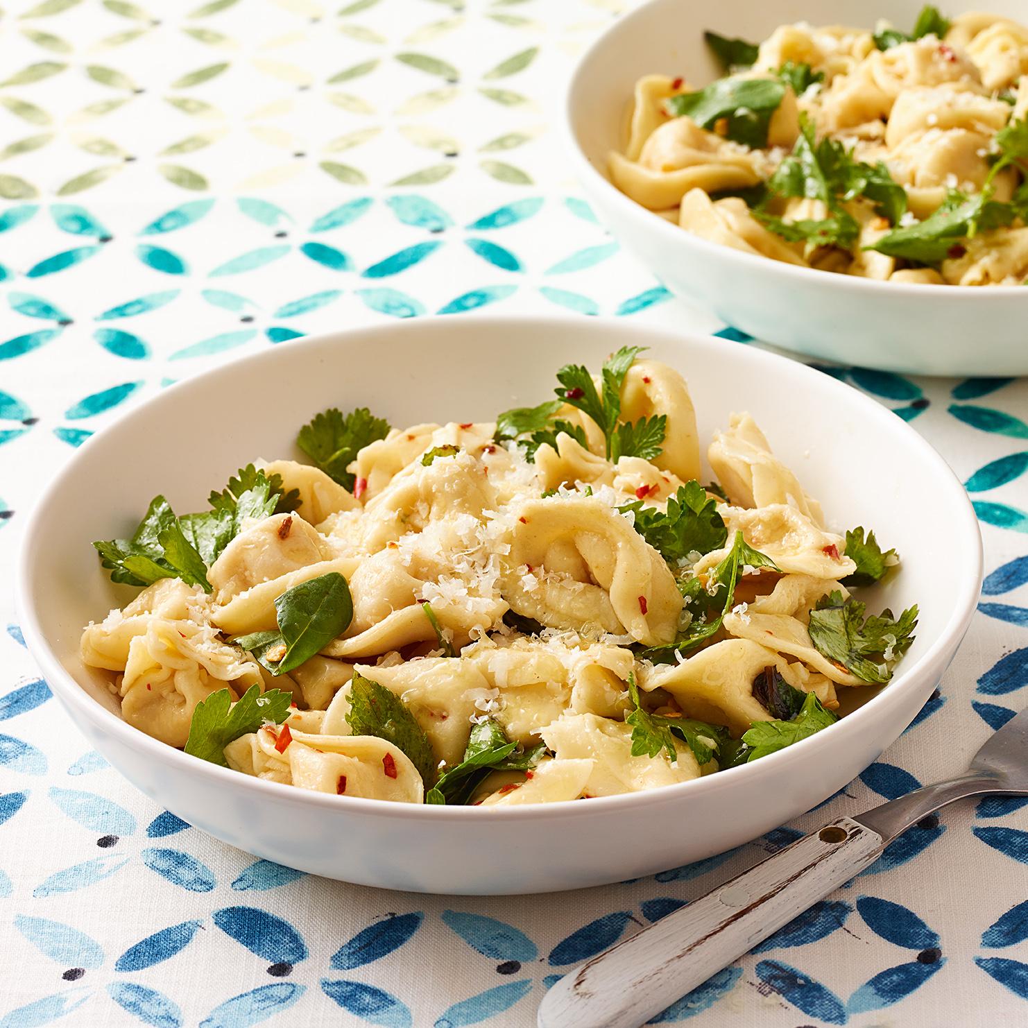 Cheese Tortellini with Herbs & Garlic