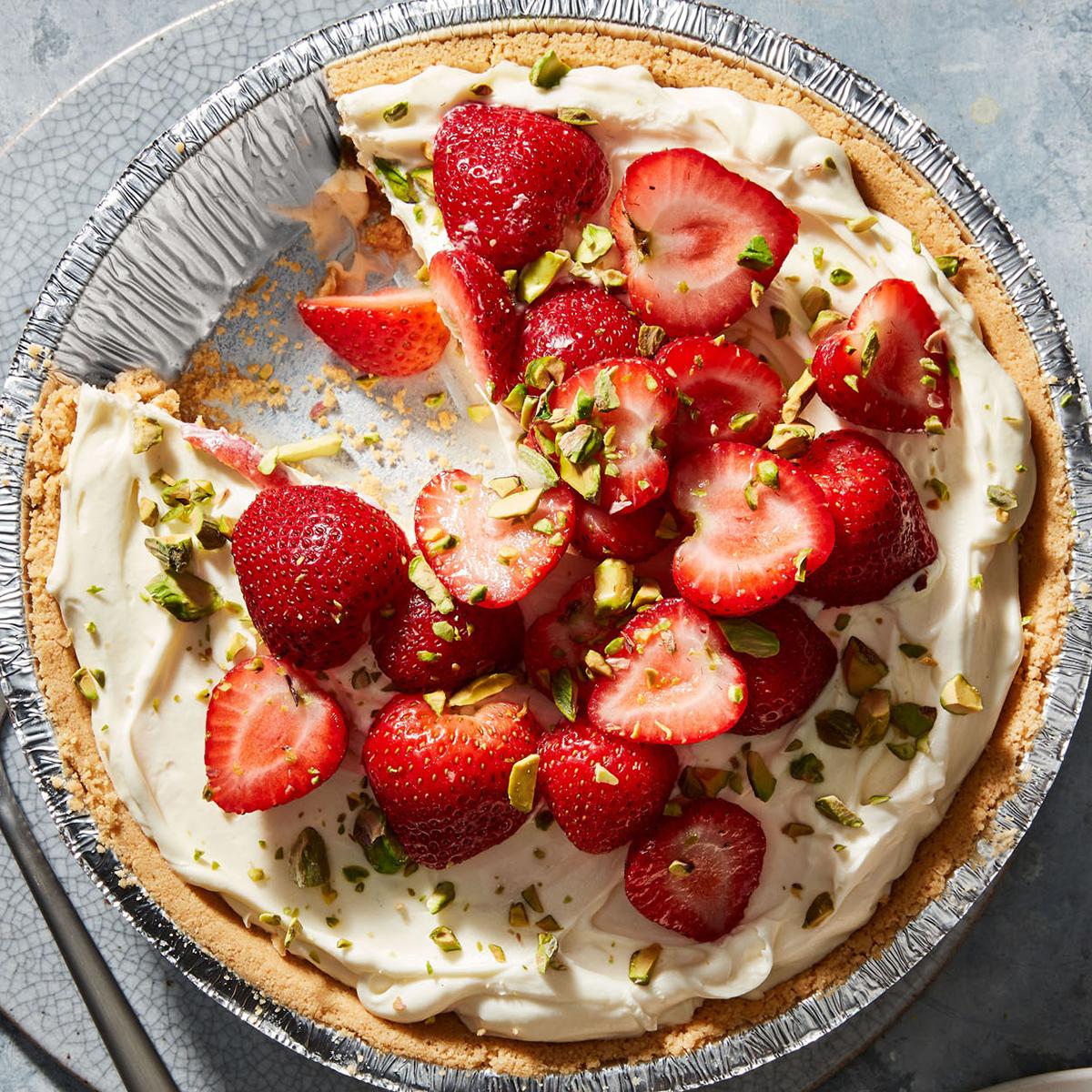 Lemon, Mascarpone & Strawberry Pie