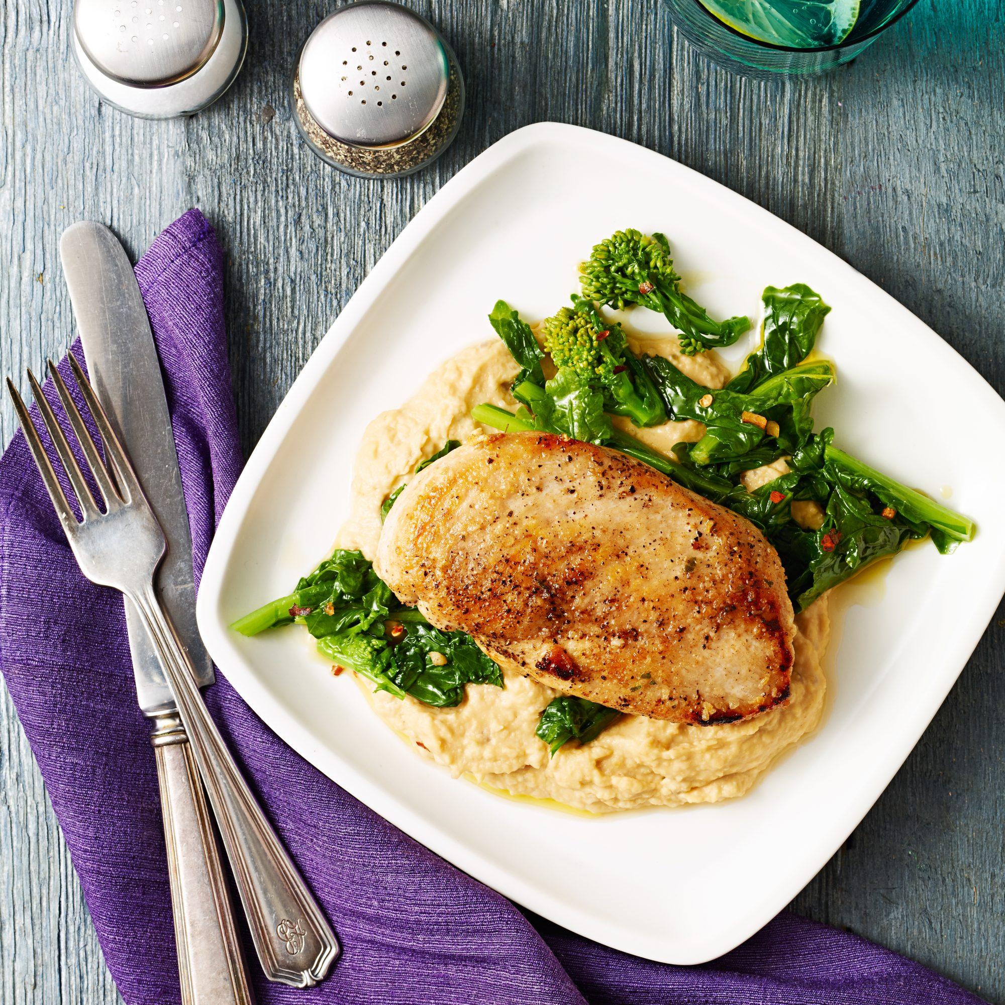 Oregano Chicken with Garlicky Broccoli Rabe