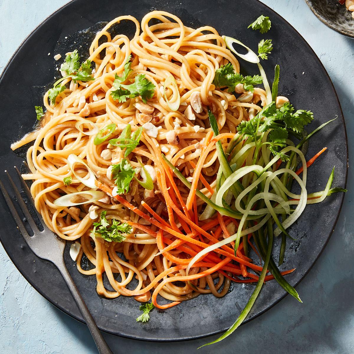Tahini-Peanut Noodles