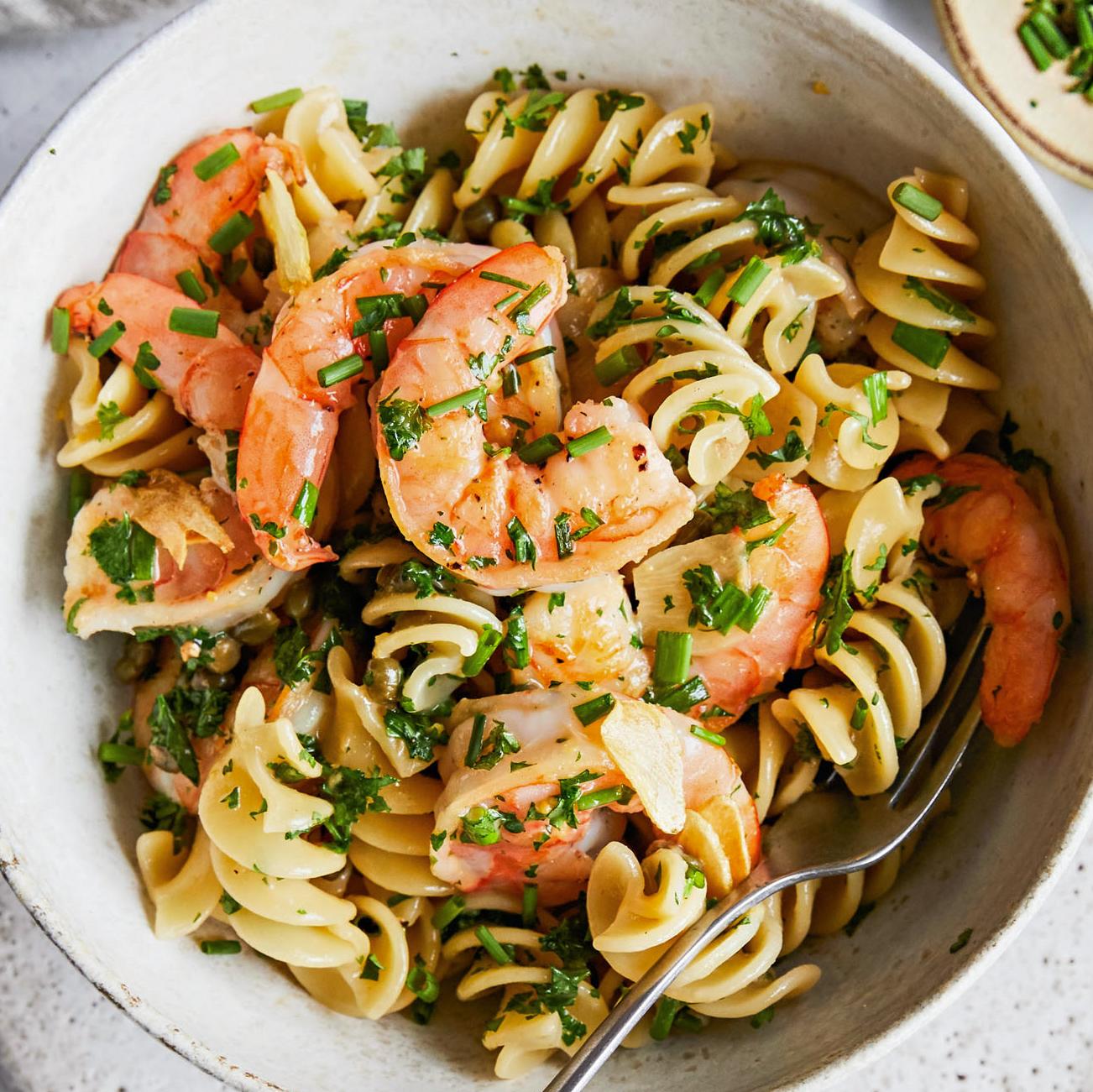 Shrimp Pasta Piccata