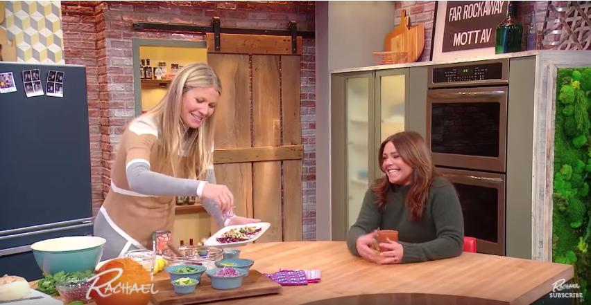 Gwyneth Paltrow and Rachael Ray make fish tacos