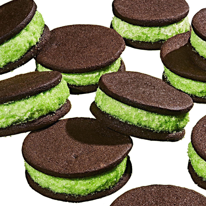 Super-Stuffed Mint-Chocolate Sandwich Cookies
