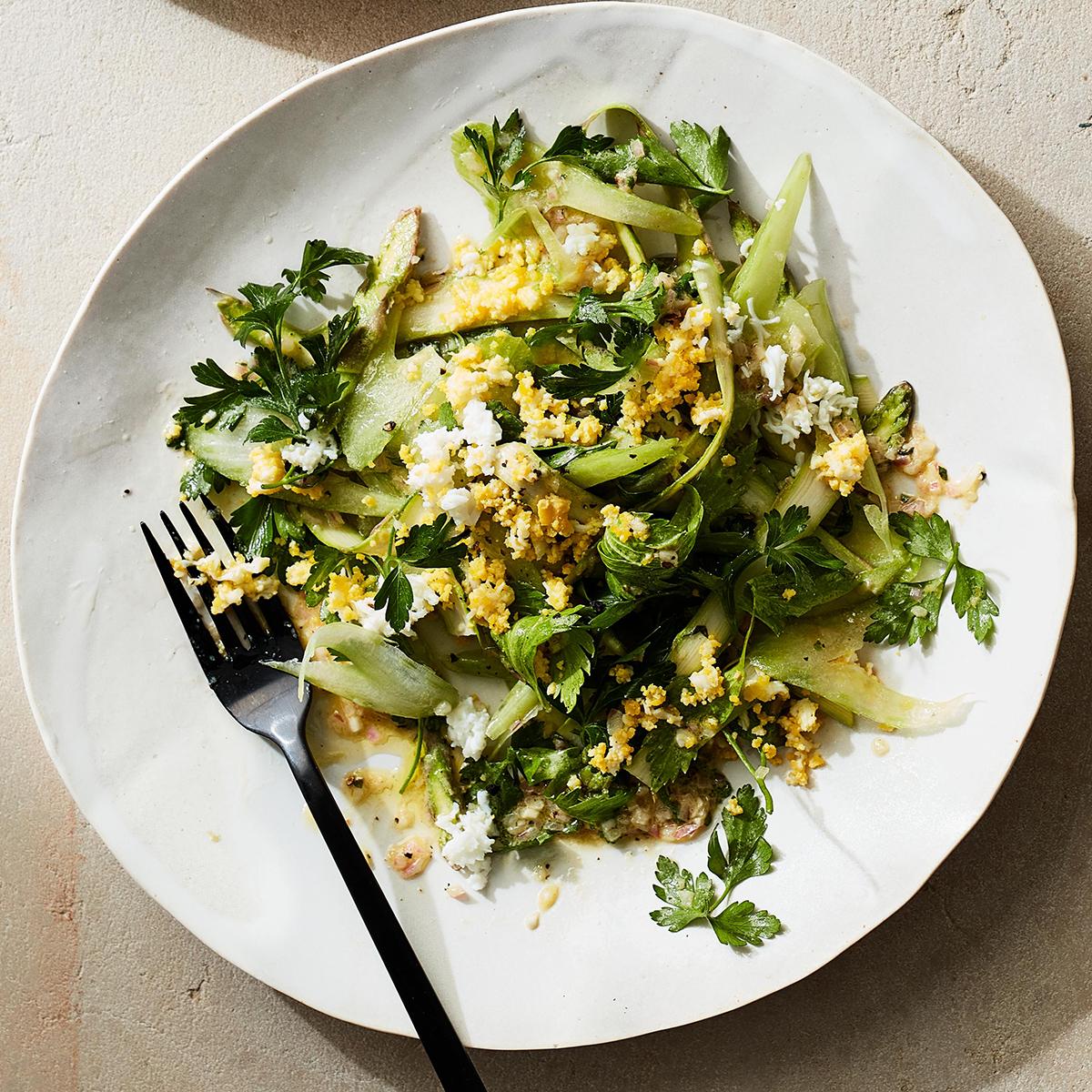 asparagus celery salad hard boiled eggs