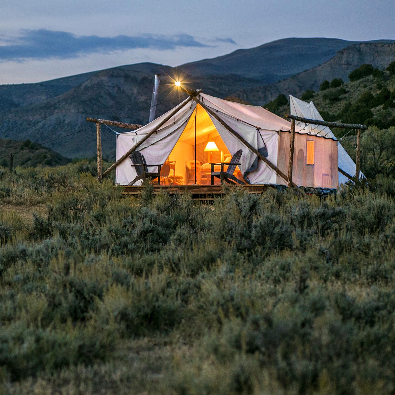 collective retreats tent in vail colorado
