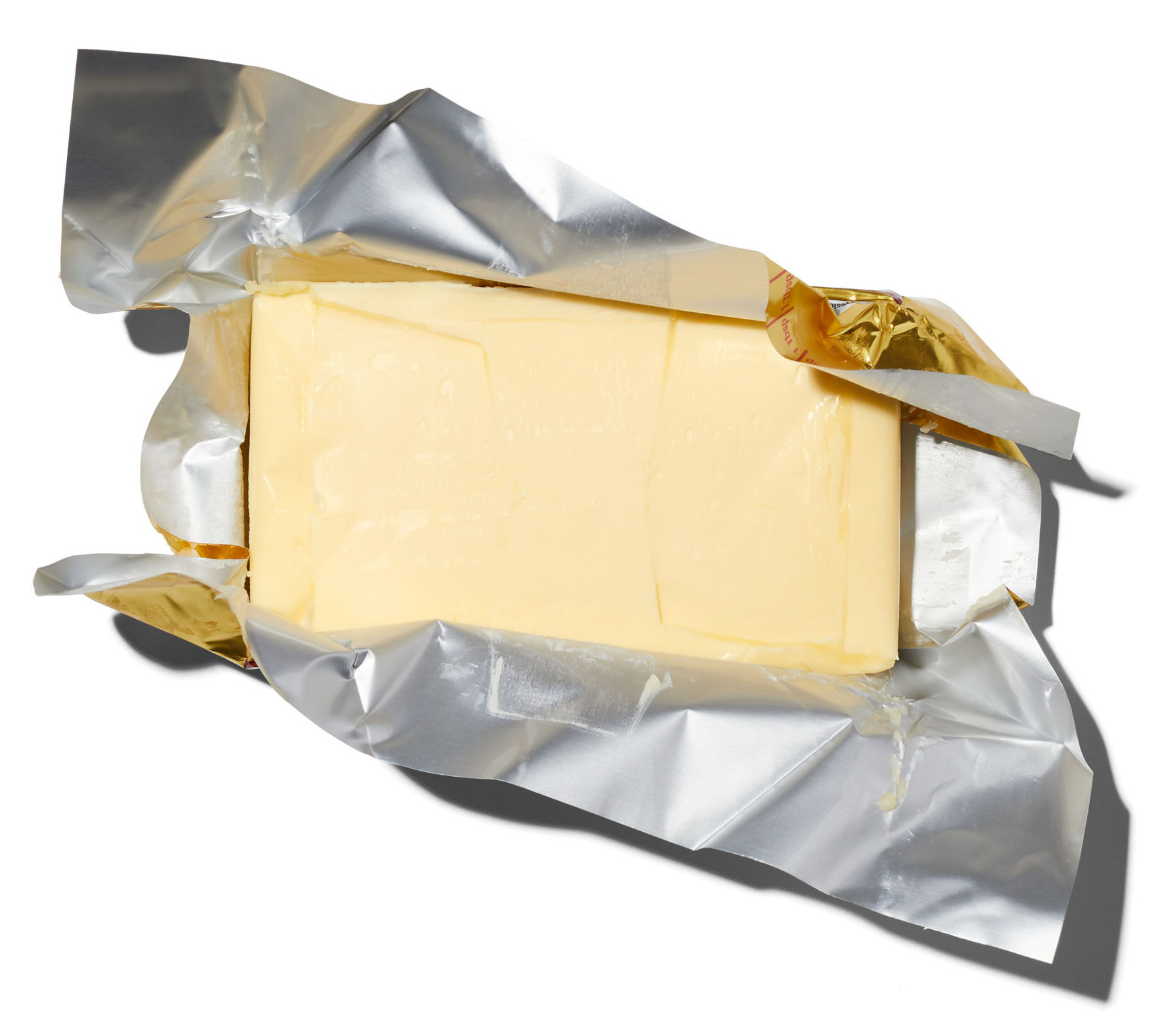 open package of butter