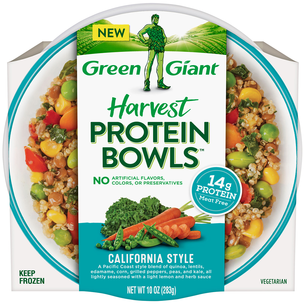 green giant harvest protein bowls california style