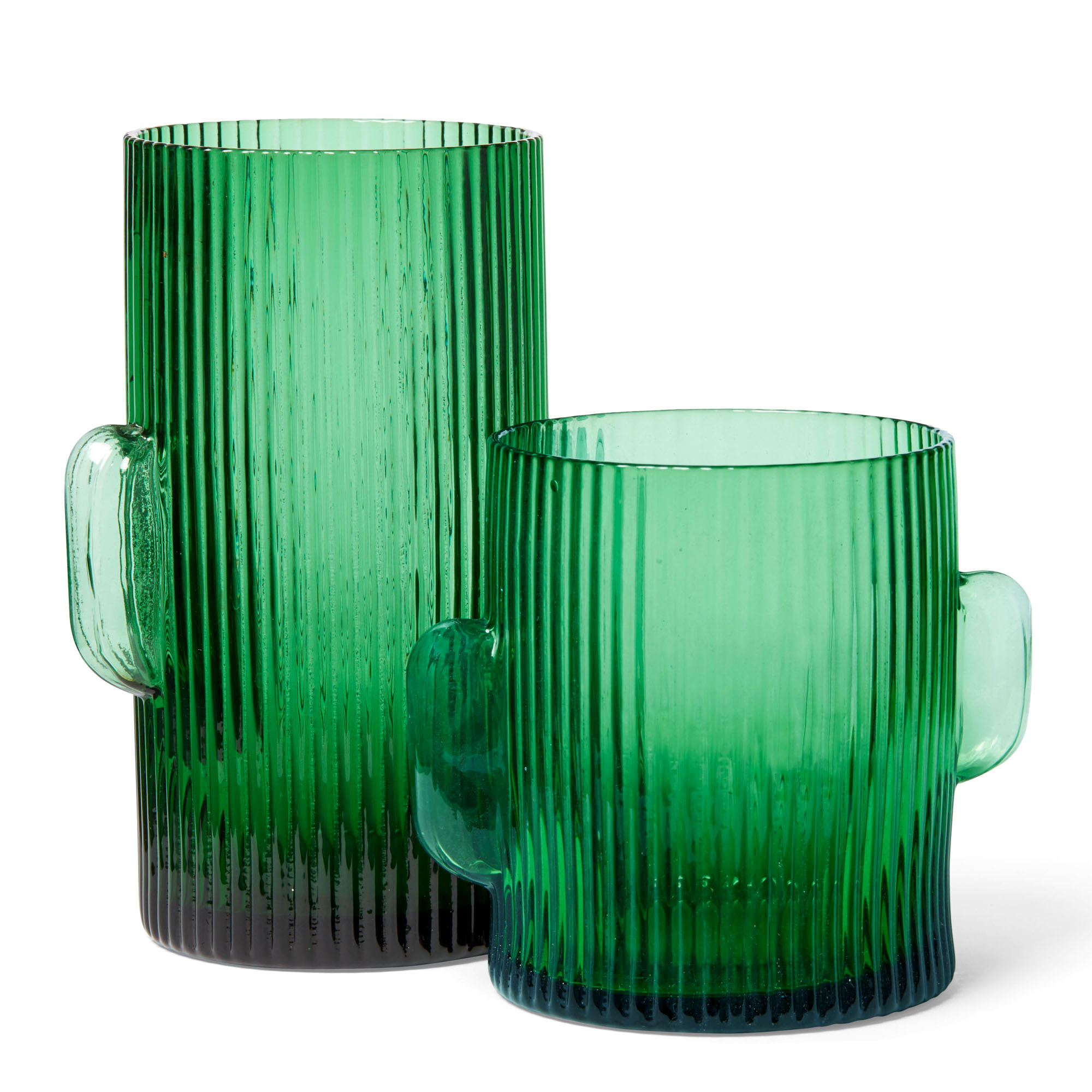 green cactus highball old fashioned glasses