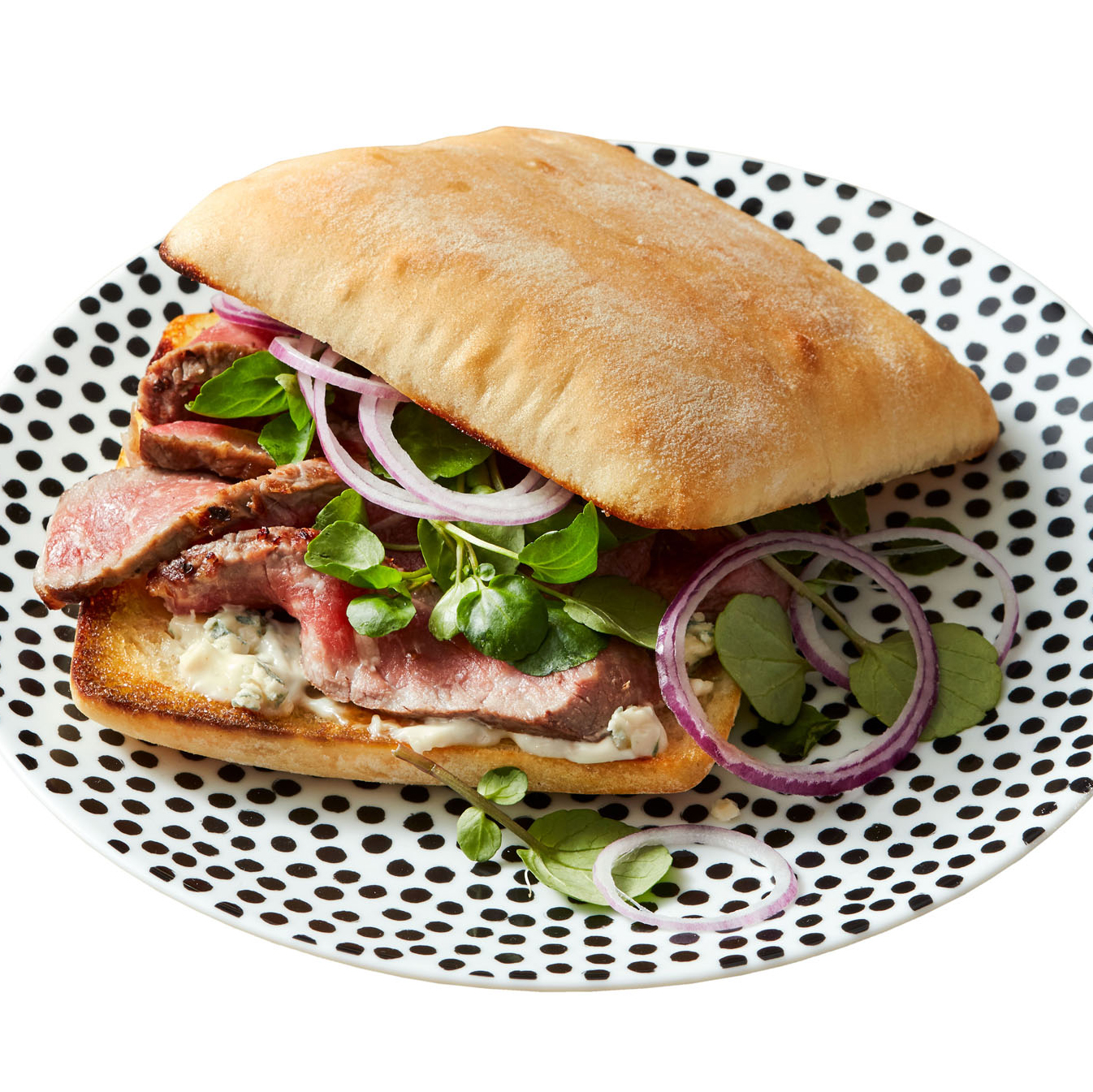 Steak Sandwiches with Blue Cheese & Watercress