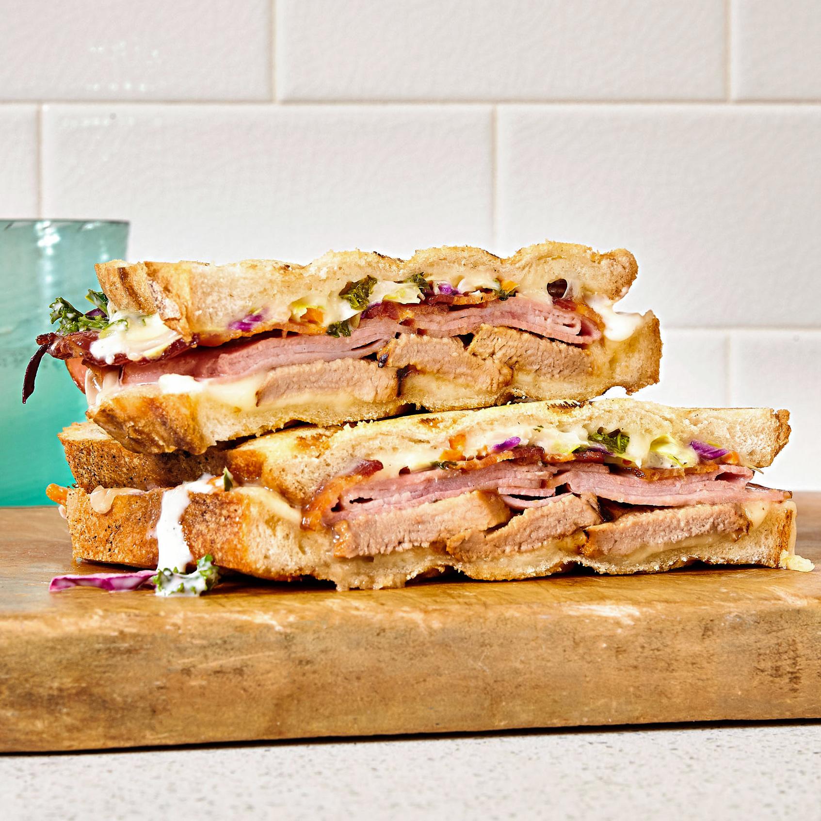 Jeff Mauro's Triple Porker Sandwich