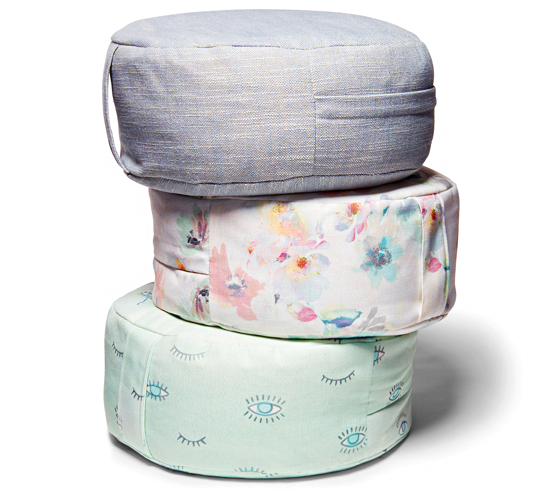 indigo zafu meditation pillows