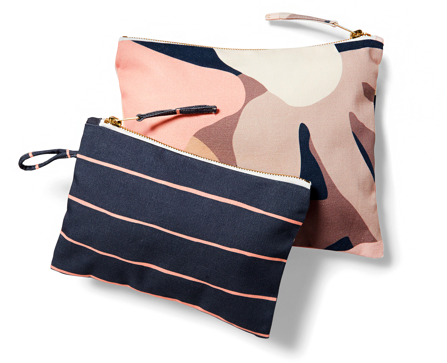 minted mod floral catch all pouch set