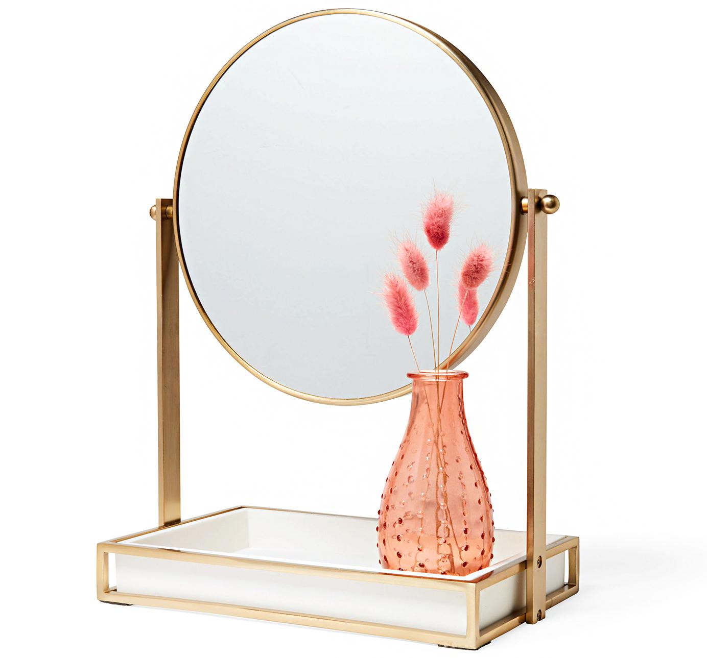west elm modern resin stone vanity mirror