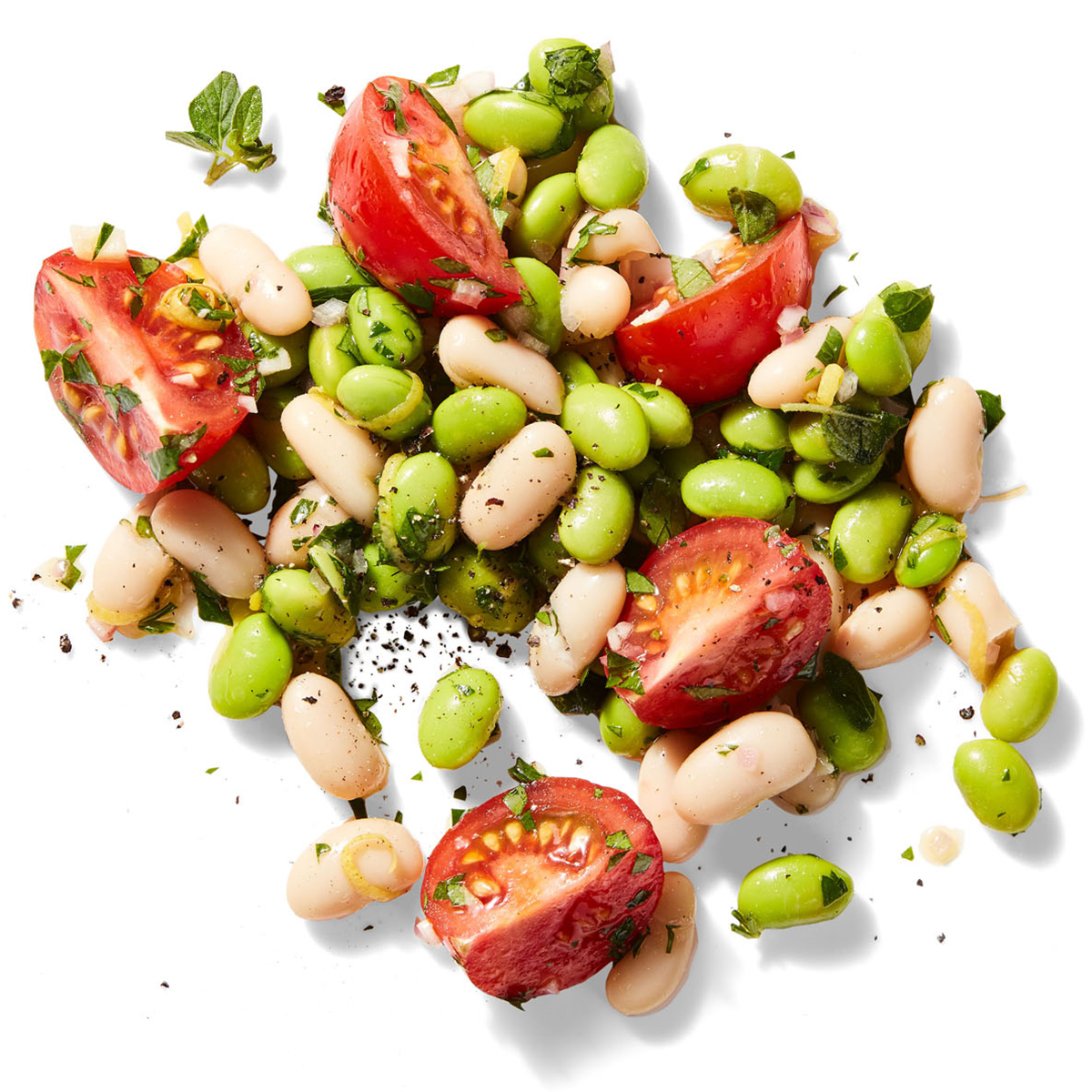 Edamame & White Bean Salad with Oregano Vinaigrette