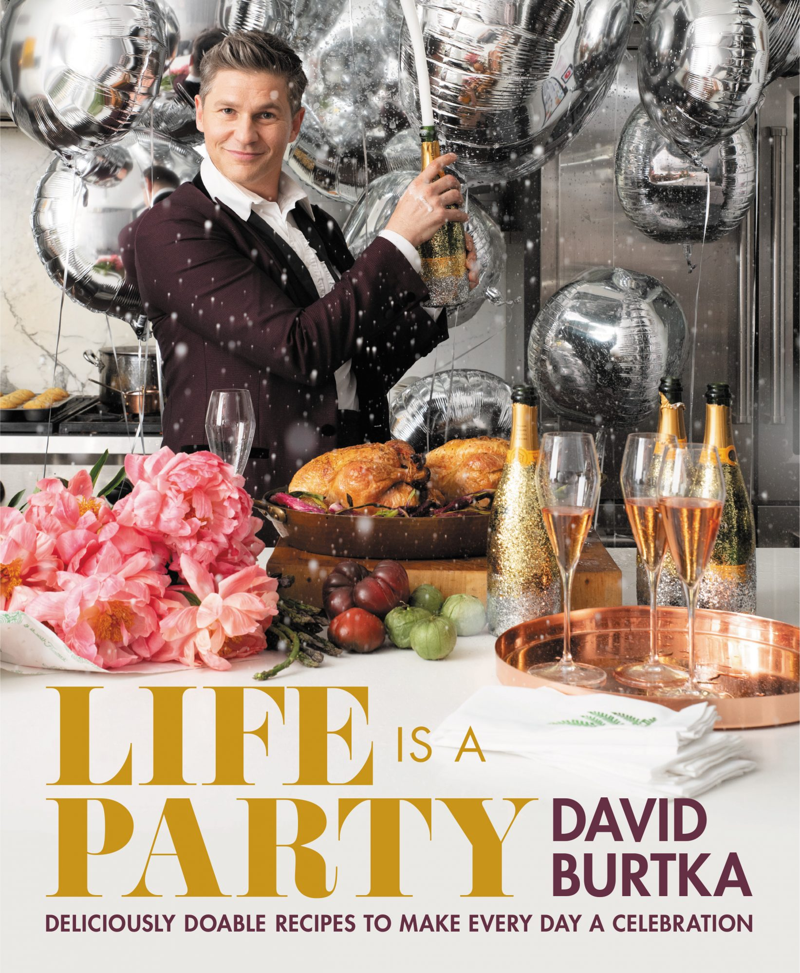 The cover of David Burtka's cookbook, Life Is a Party