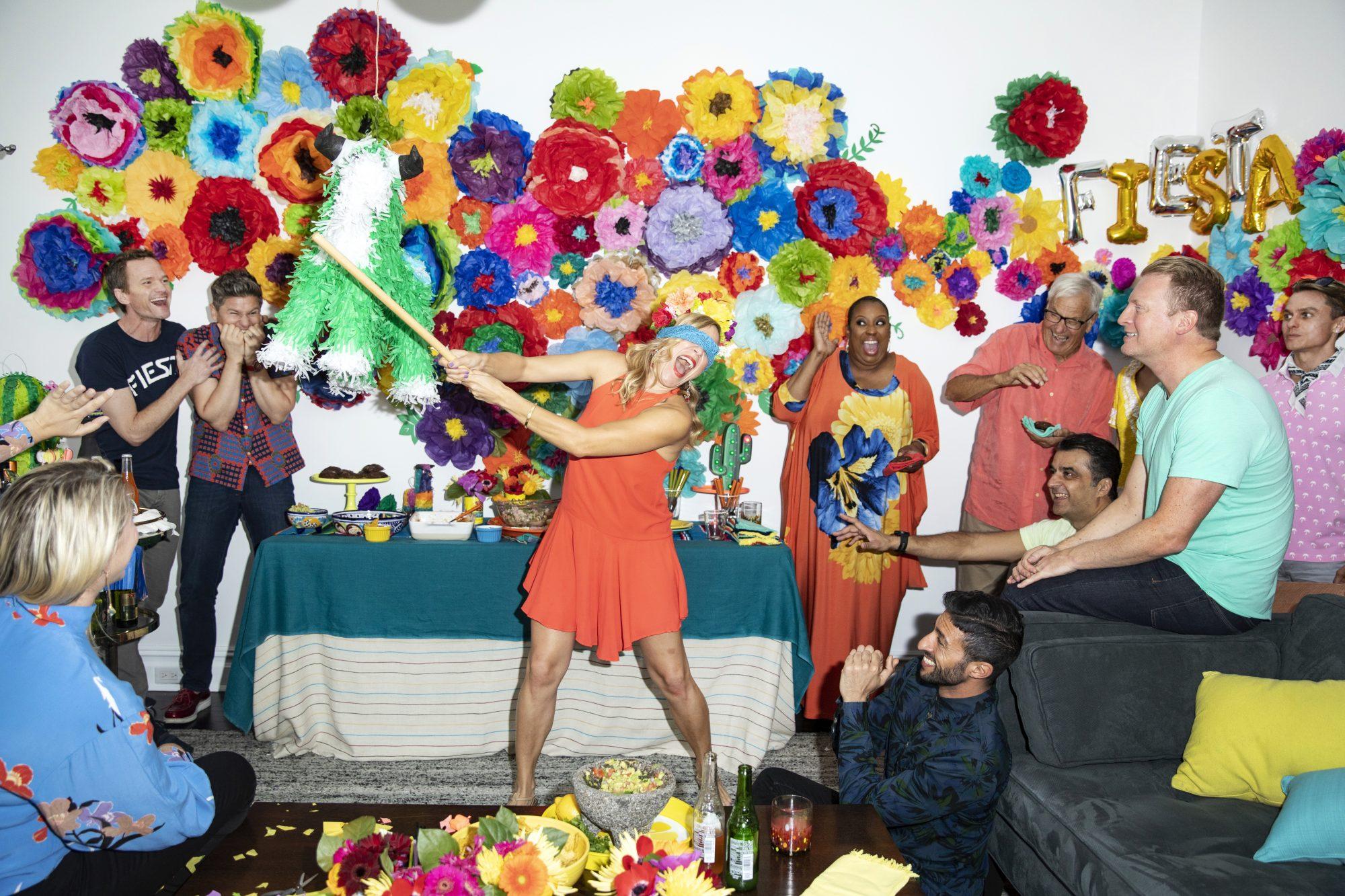 Neil Patrick Harris and David Burtka host a fiesta party