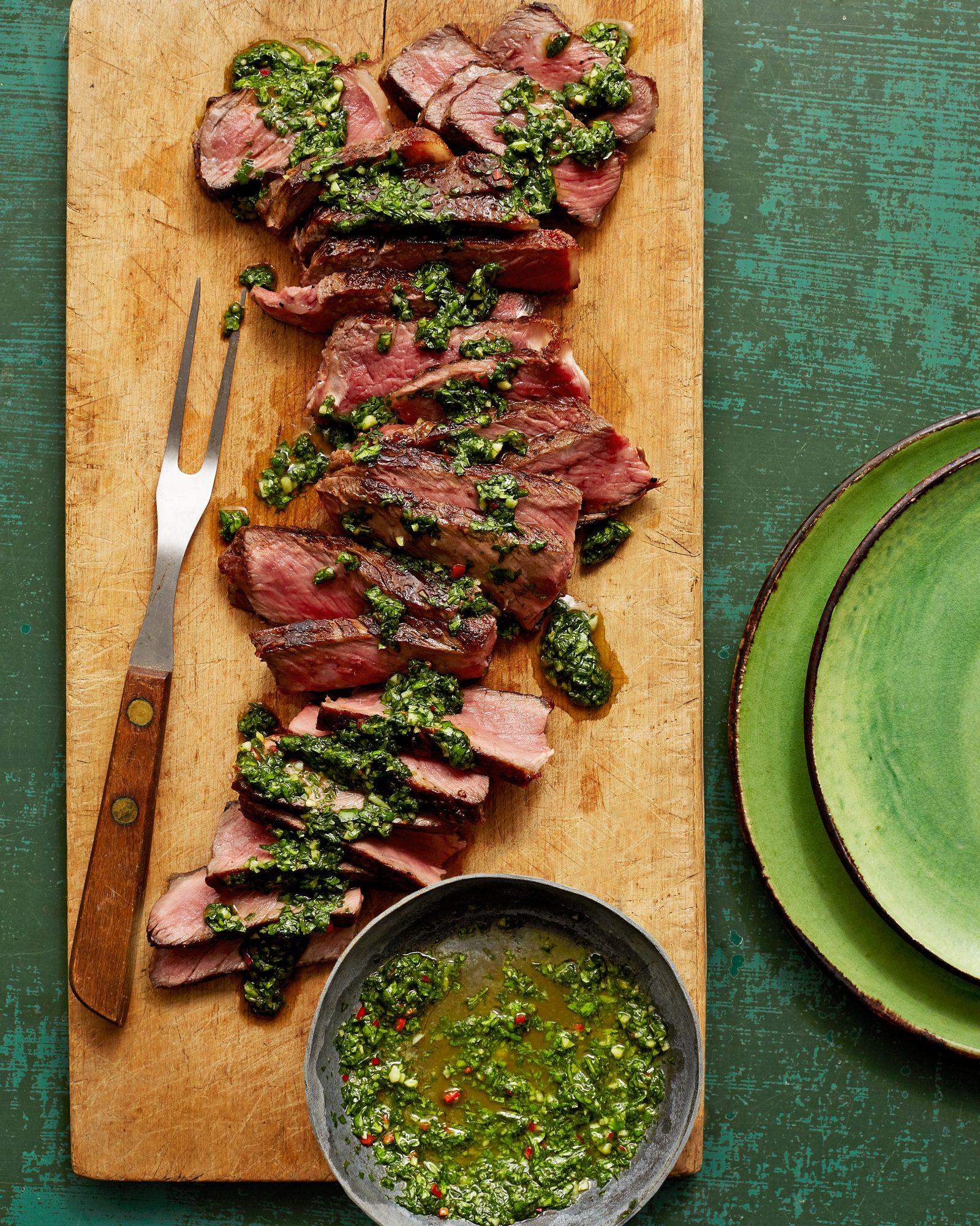 Grilled Steak & Cilantro Chimichurri