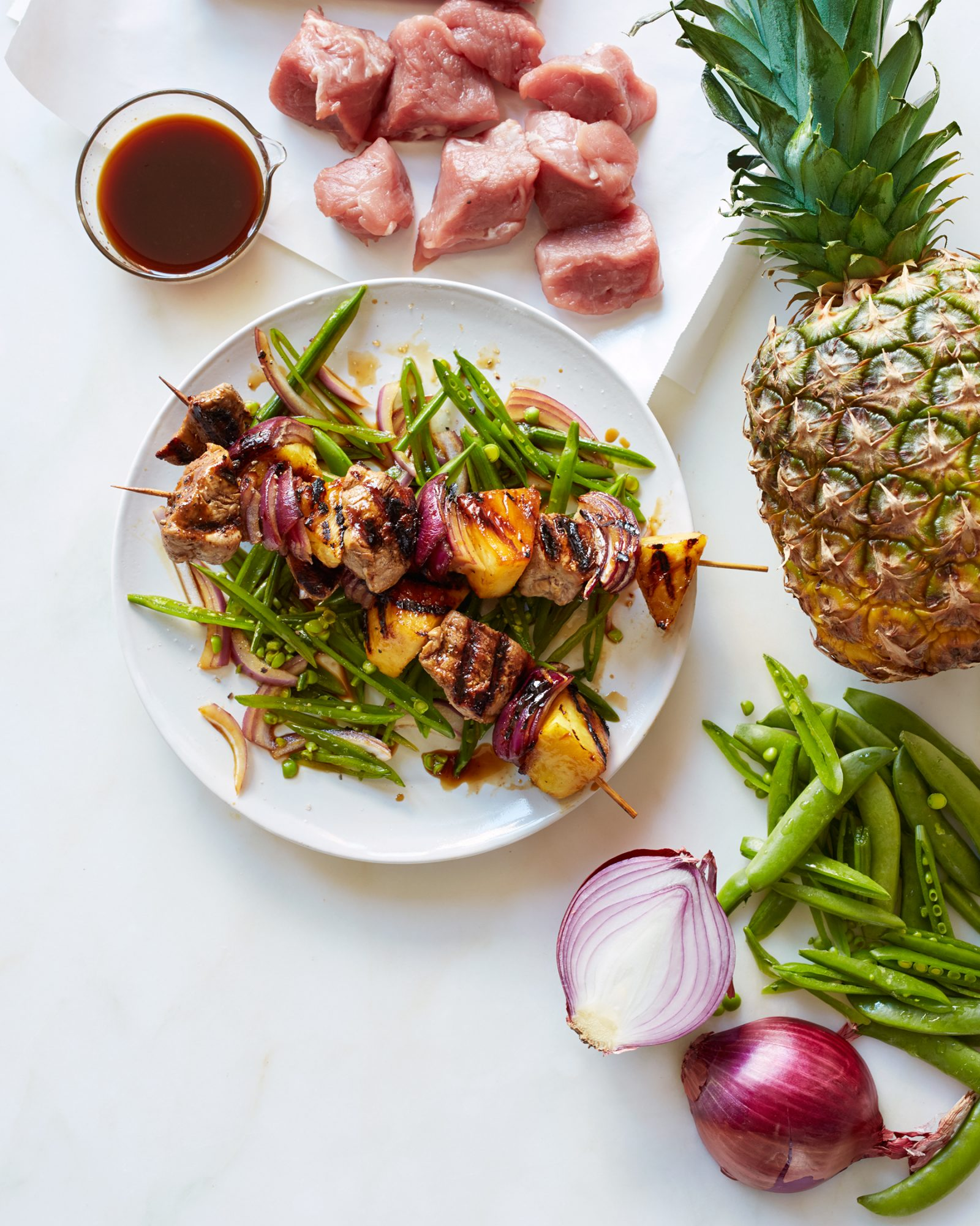 Teriyaki Pork & Pineapple Kebabs