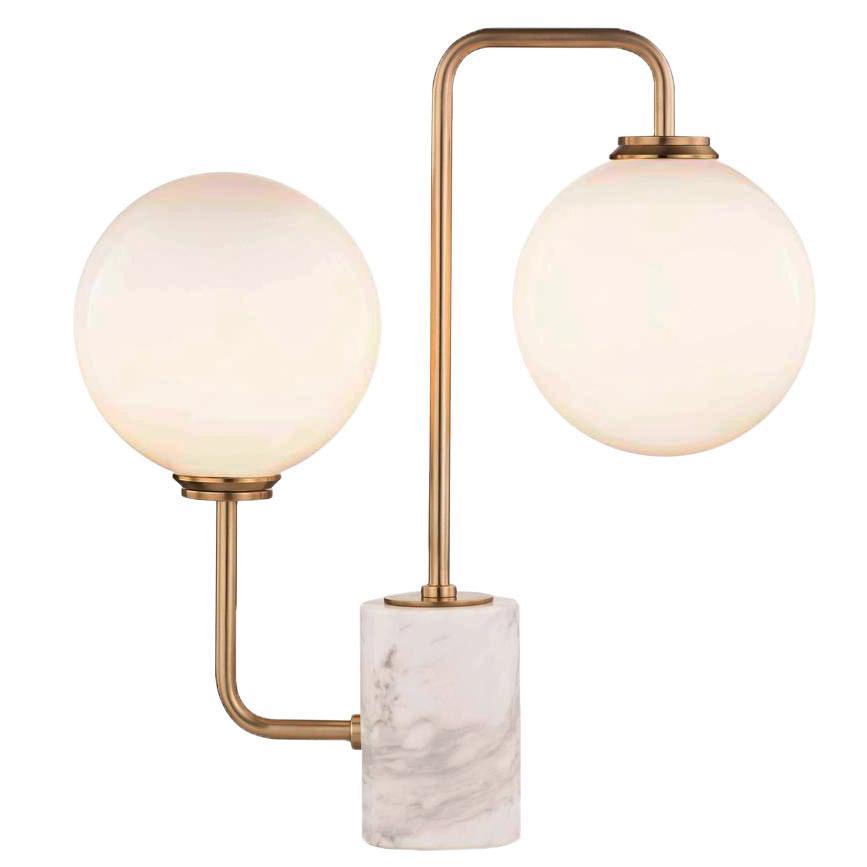 brass marble desk lamp globe lights