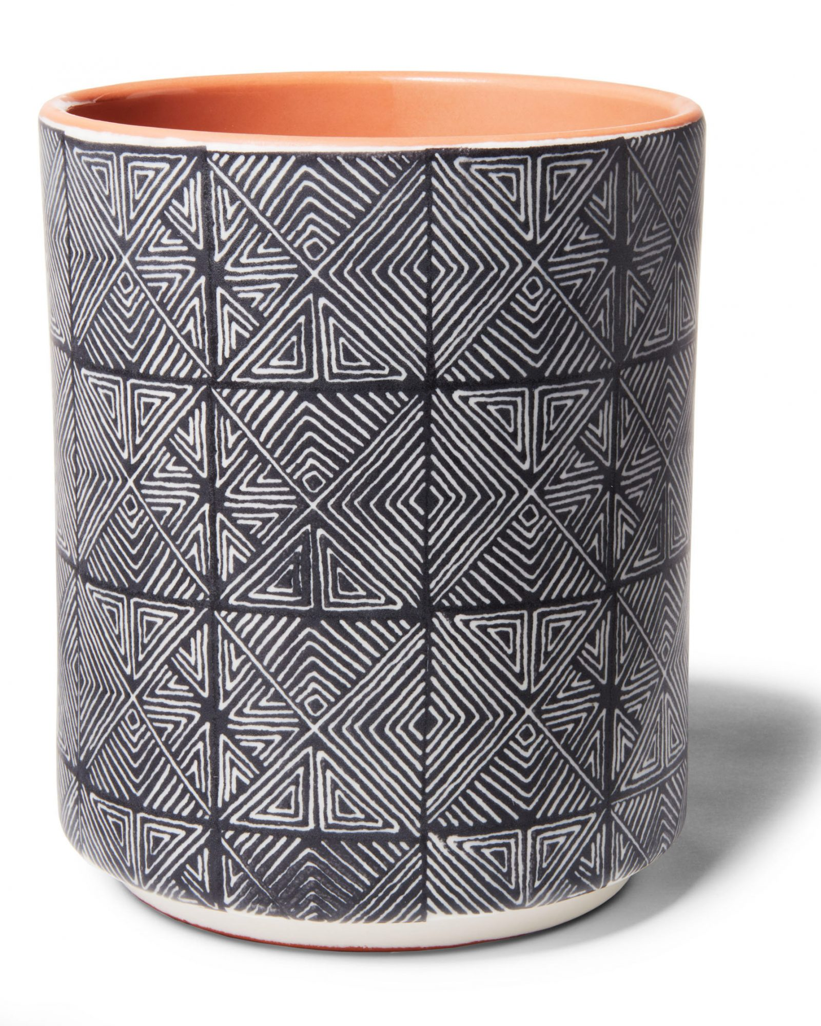patterned ceramic kitchen tool container