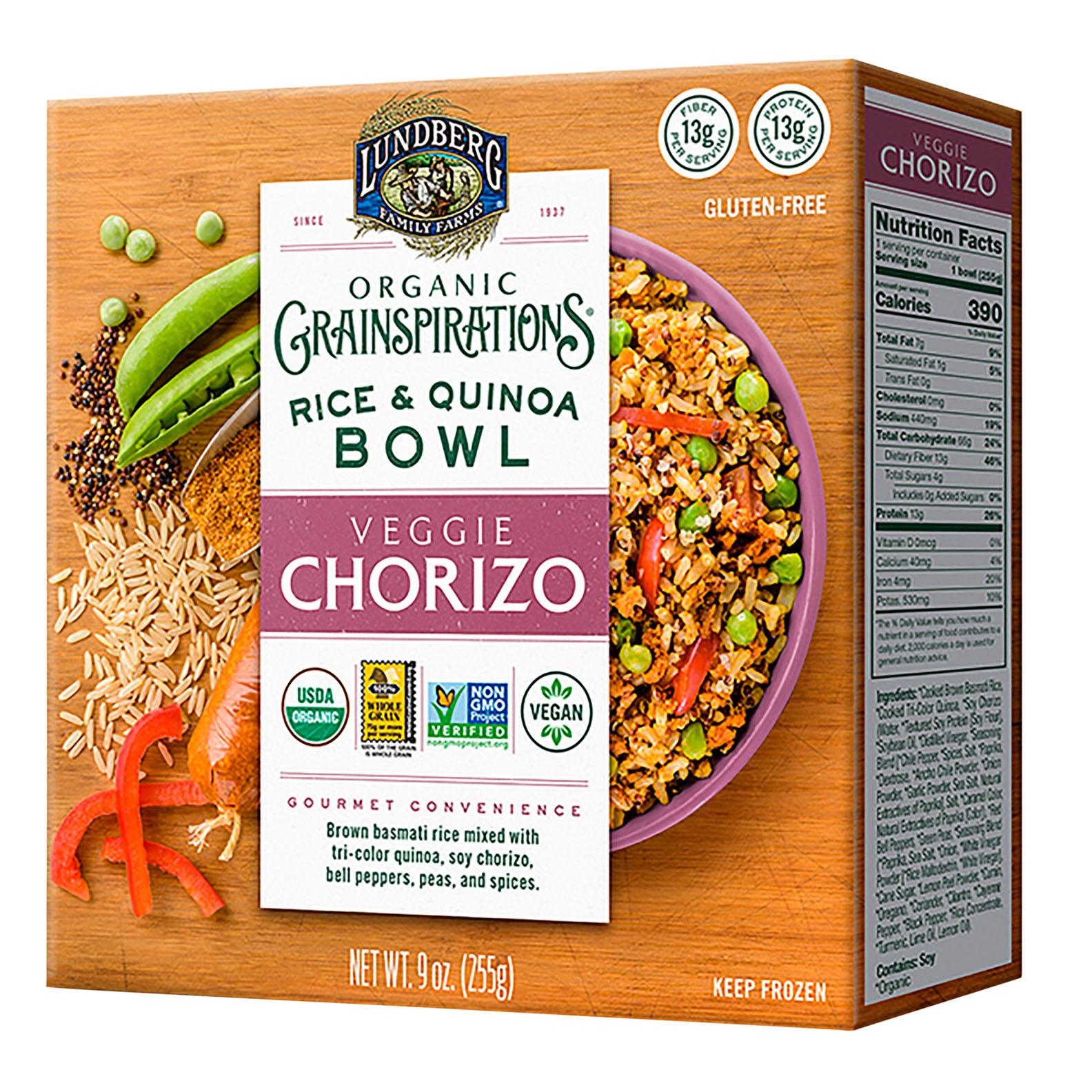 lundberg rice quinoa bowl veggie chorizo