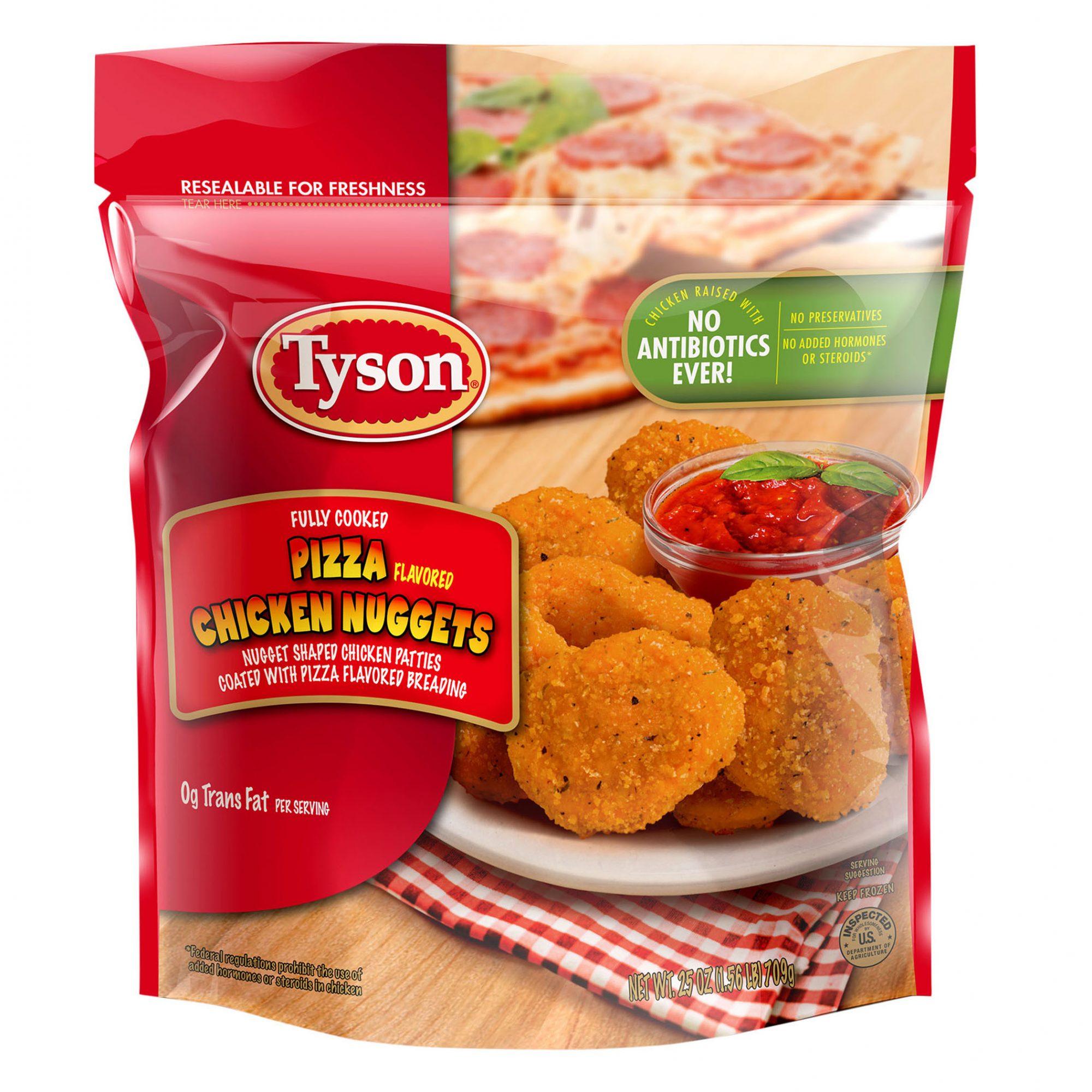 tyson pizza flavored chicken nuggets