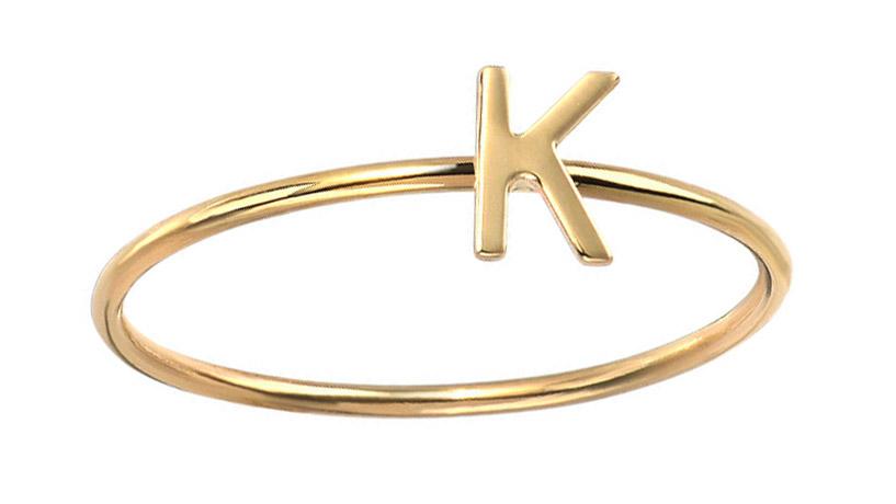 gold K ring