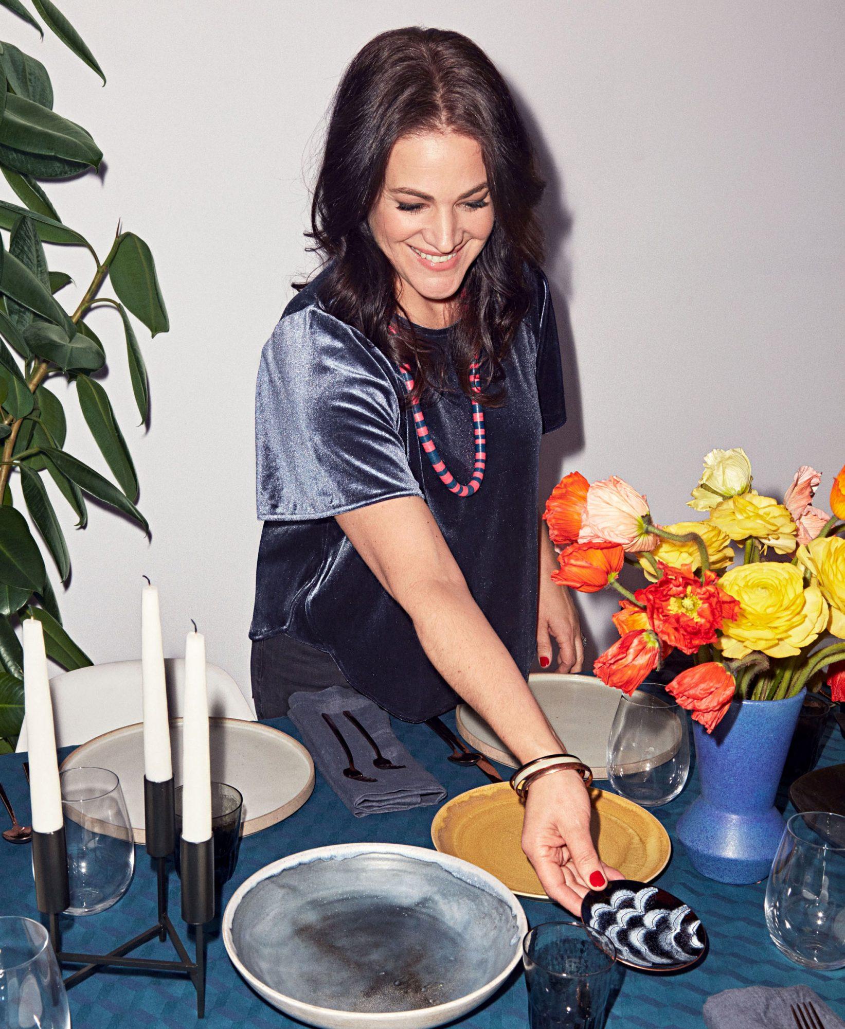 stylist megan hedgpeth setting table