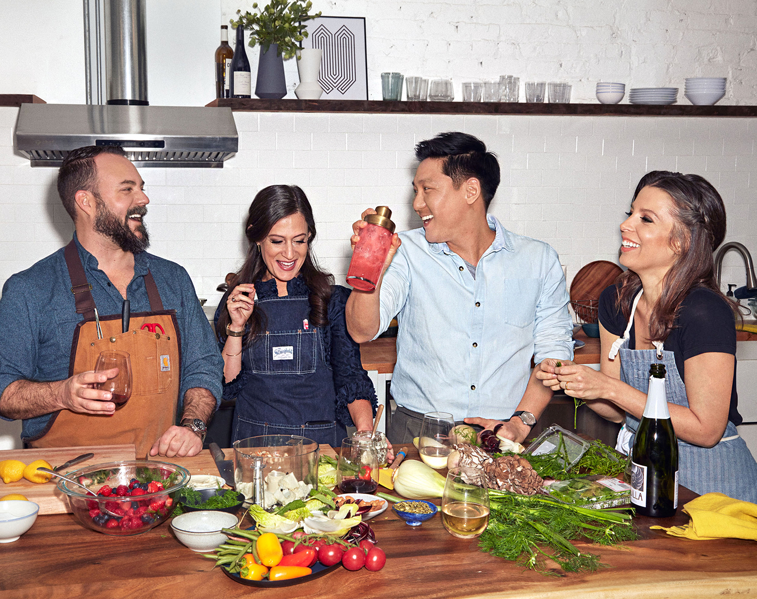 rachael ray food stylists at counter