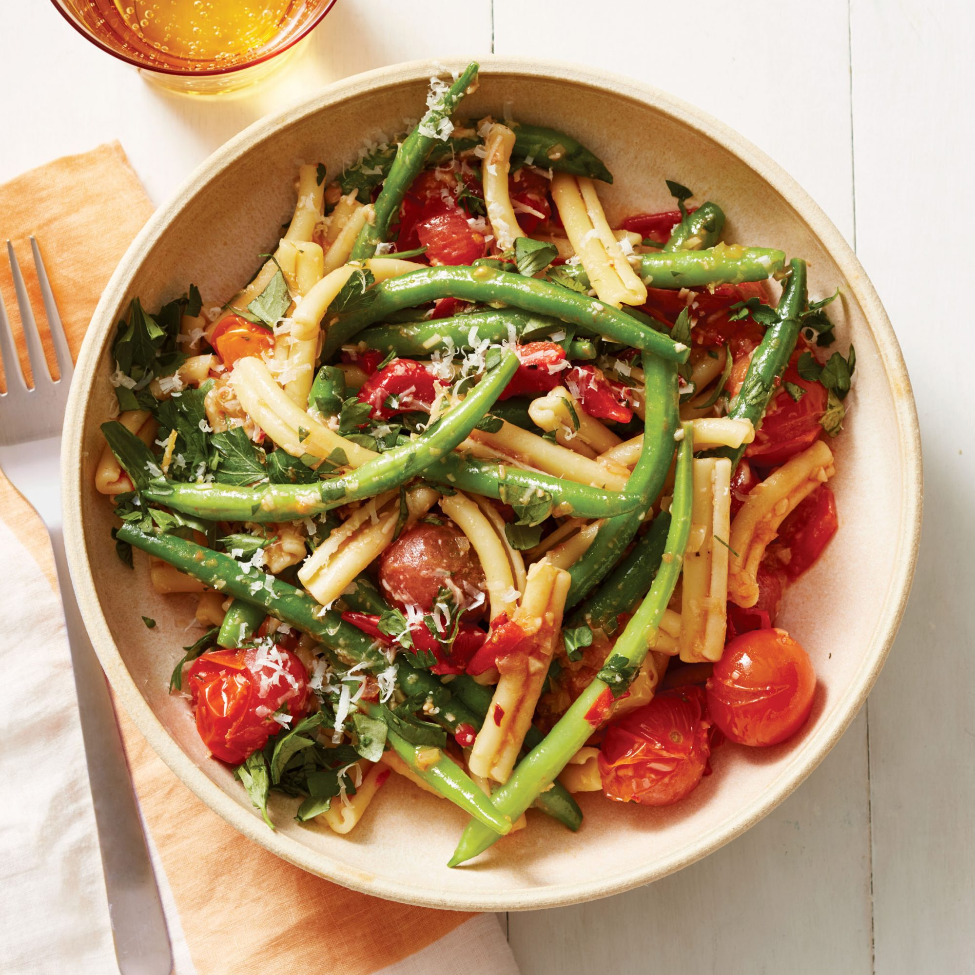 green bean pasta salad