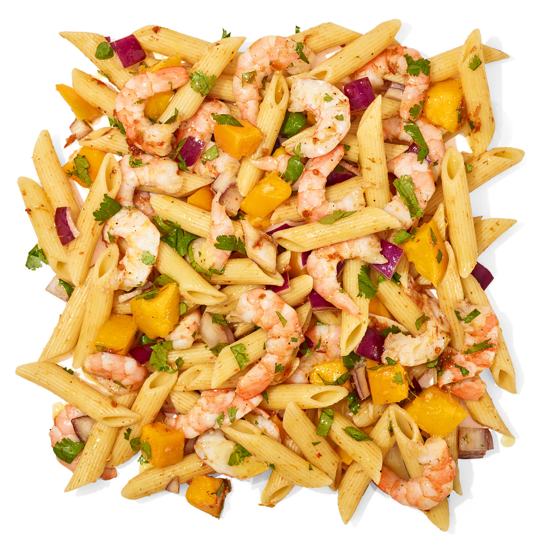 Jerk-y Shrimp & Mango Pasta Salad