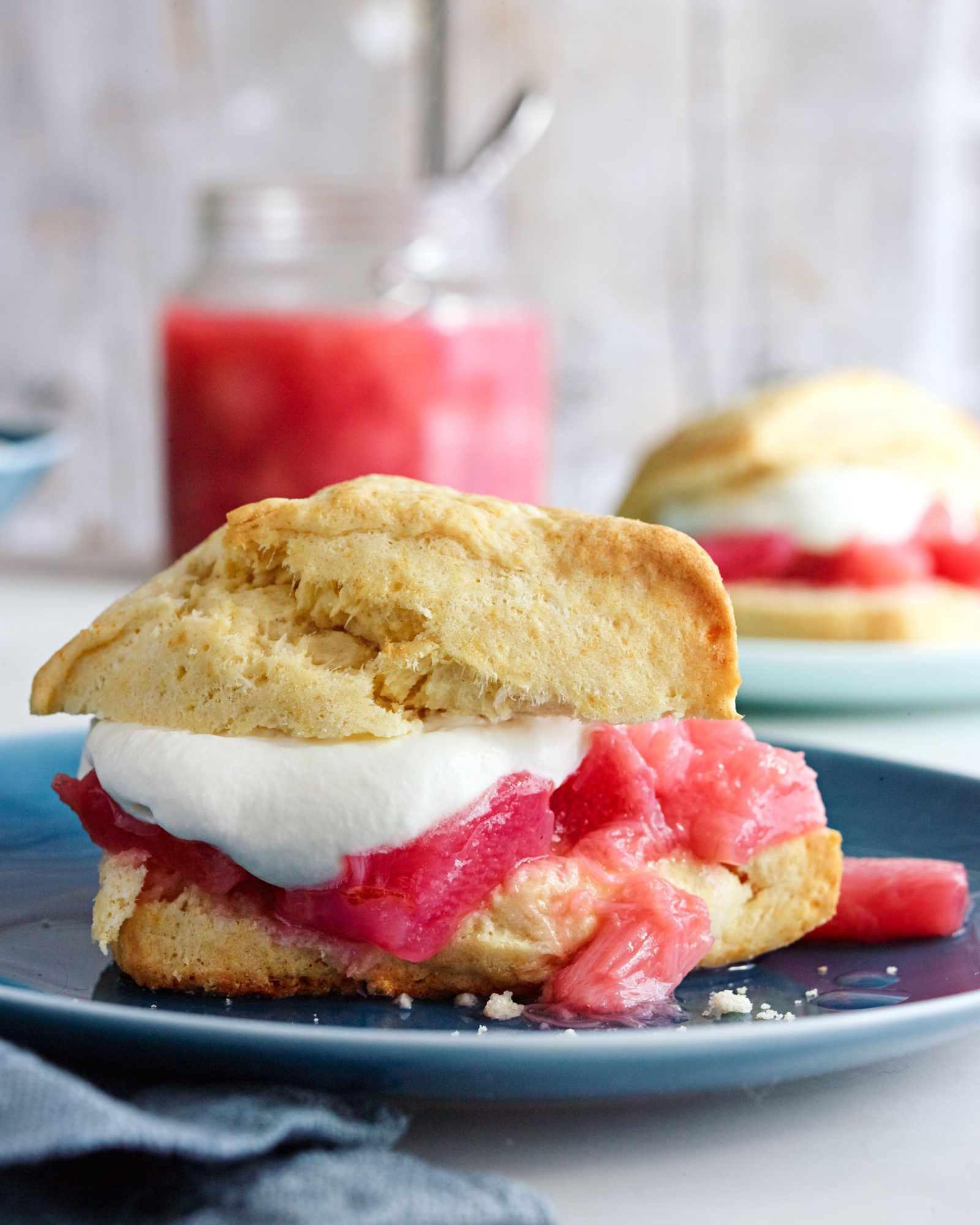Rhubarb-Rosé Shortcakes