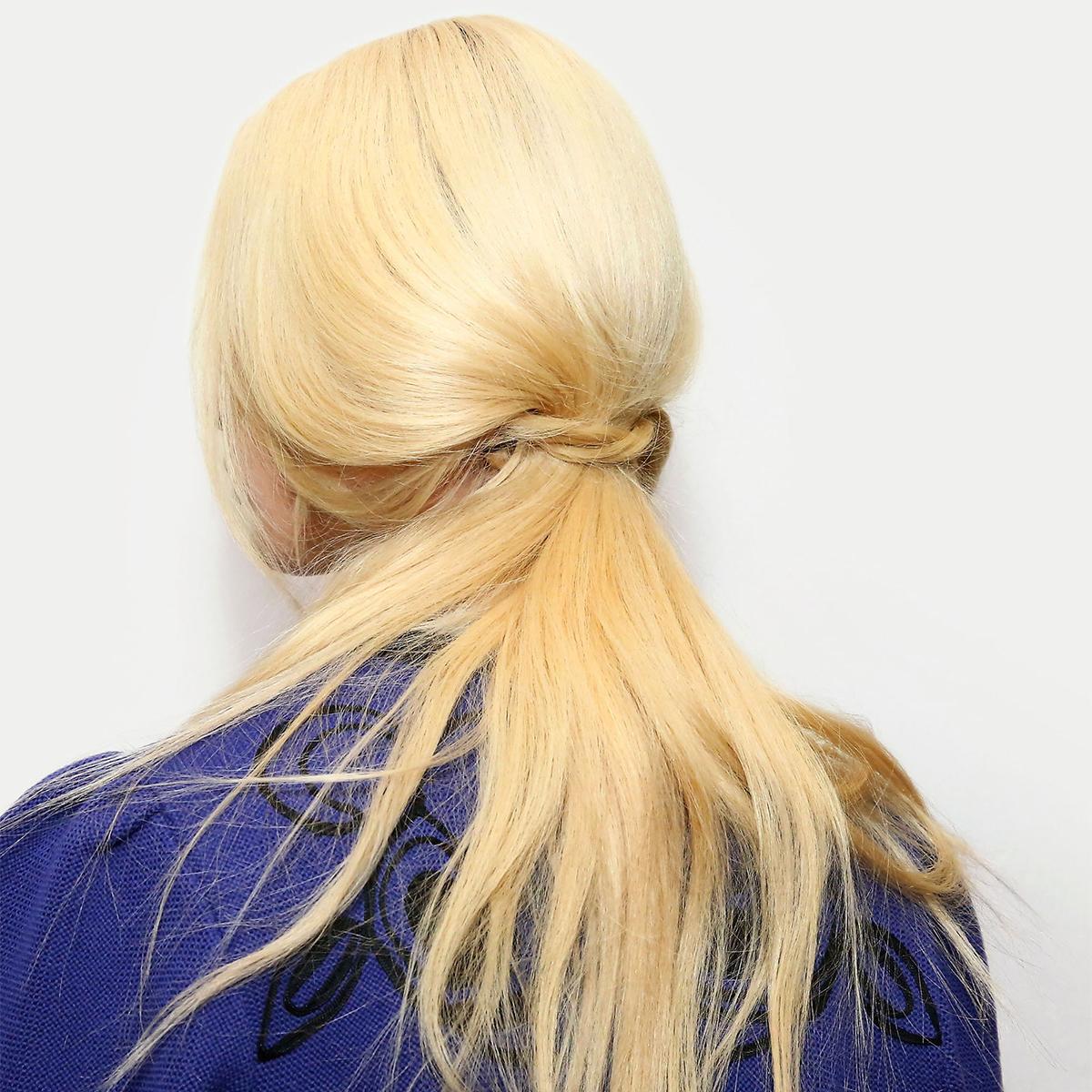 twist low ponytail